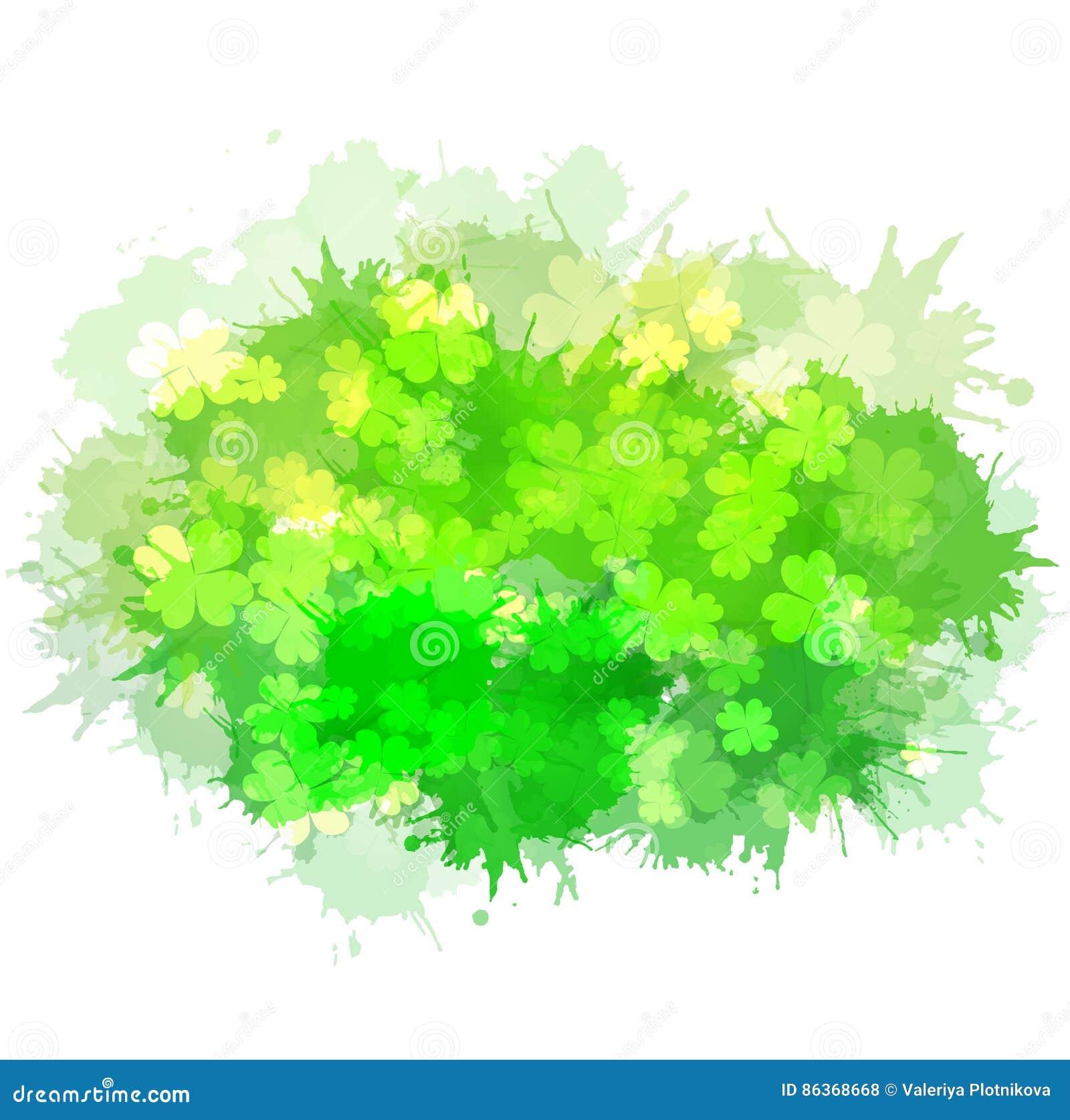 Elemento del vector con un trébol de cuatro hojas feliz