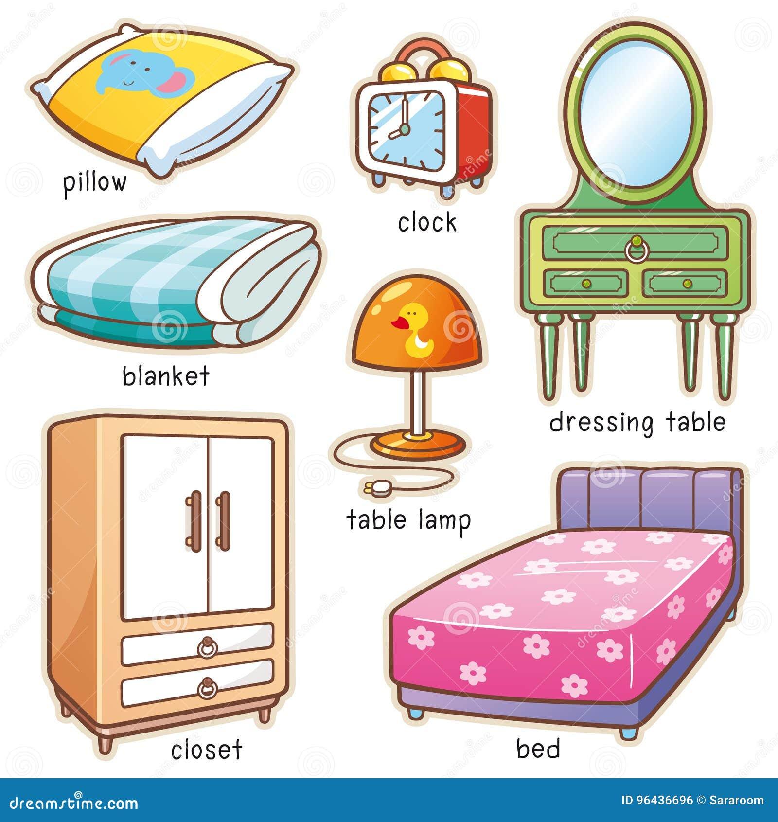 Elemento della camera da letto illustrazione vettoriale for Mobilia dizionario