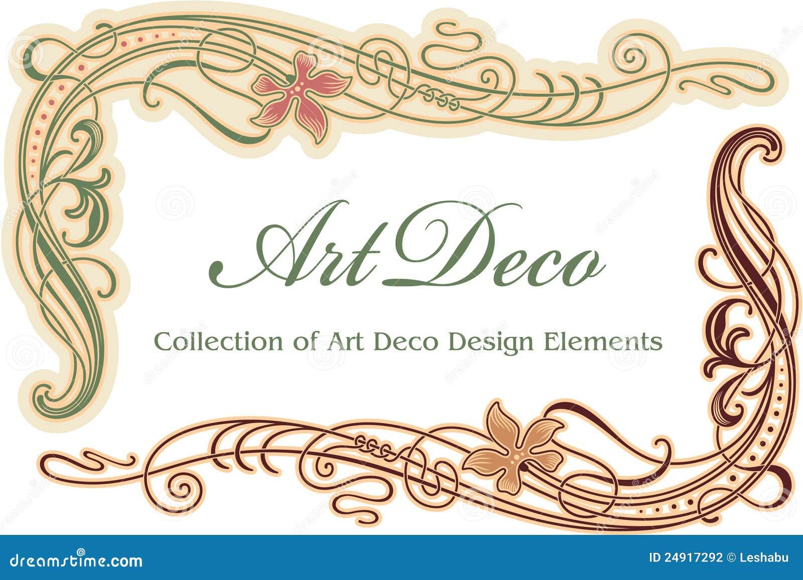 elemento di disegno di art deco angolo fotografia stock immagine 24917292. Black Bedroom Furniture Sets. Home Design Ideas