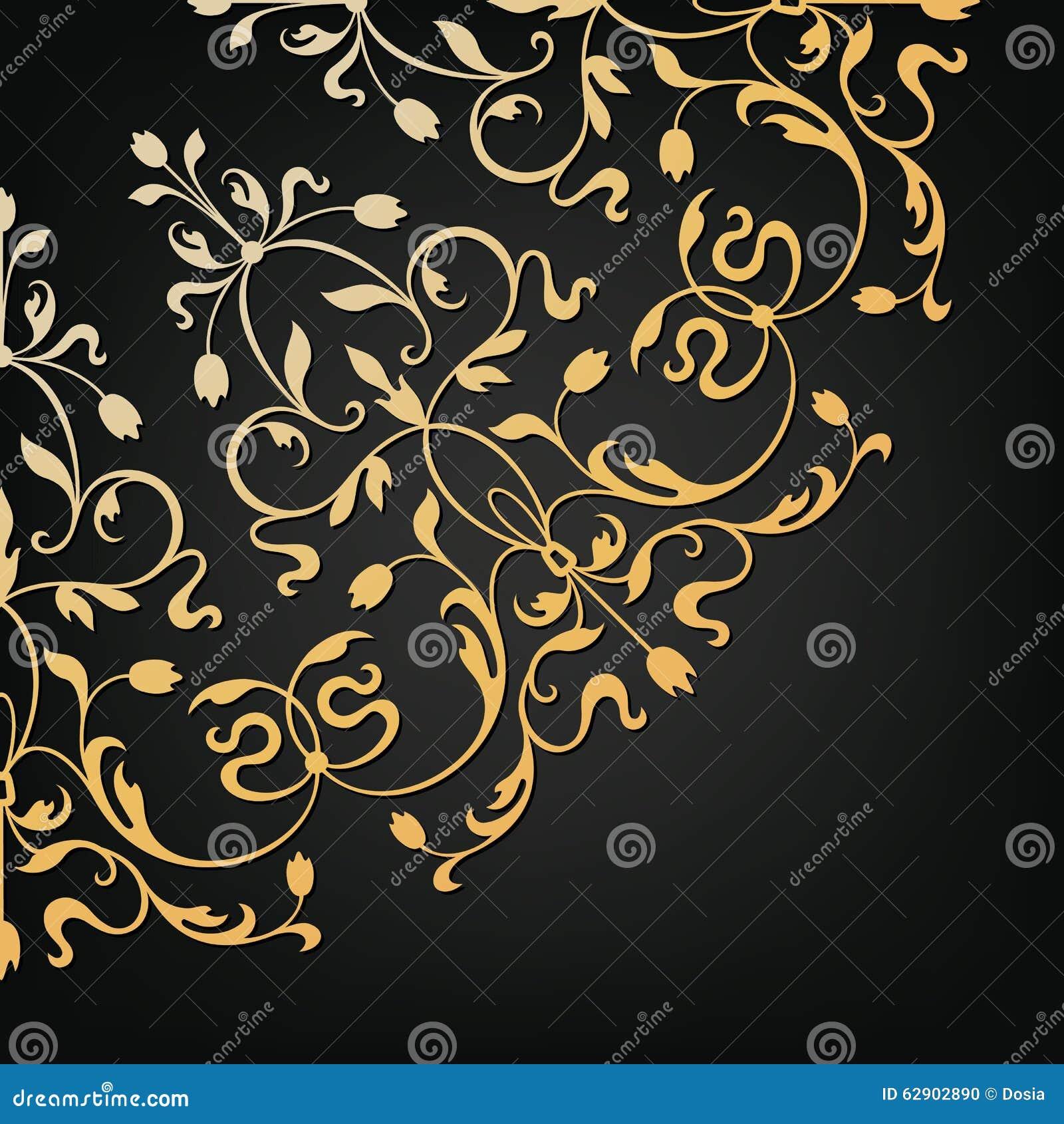Elemento floral decorativo do vetor Estilo do vintage