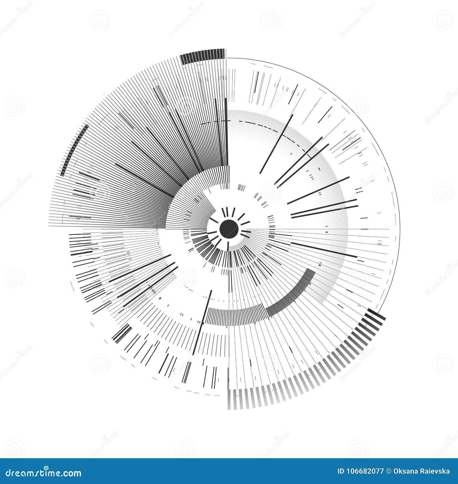 Elemento futurista del interfaz Círculo de la tecnología Interfaz de usuario futurista de Digitaces HUD Fondo blanco aislado plan