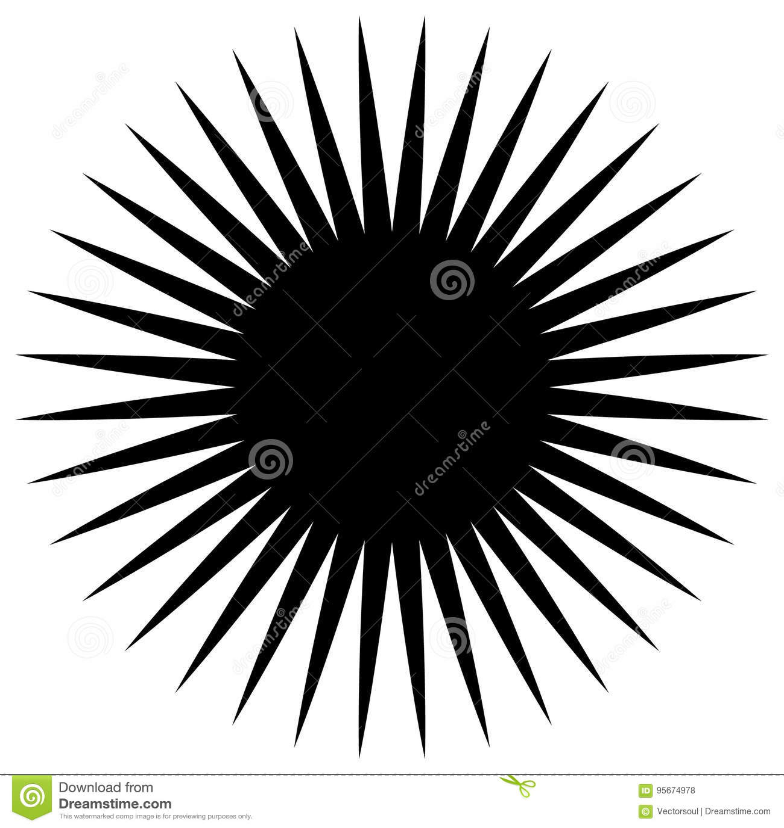 Elemento geométrico circular de los rayos radiales, líneas Bla abstracto