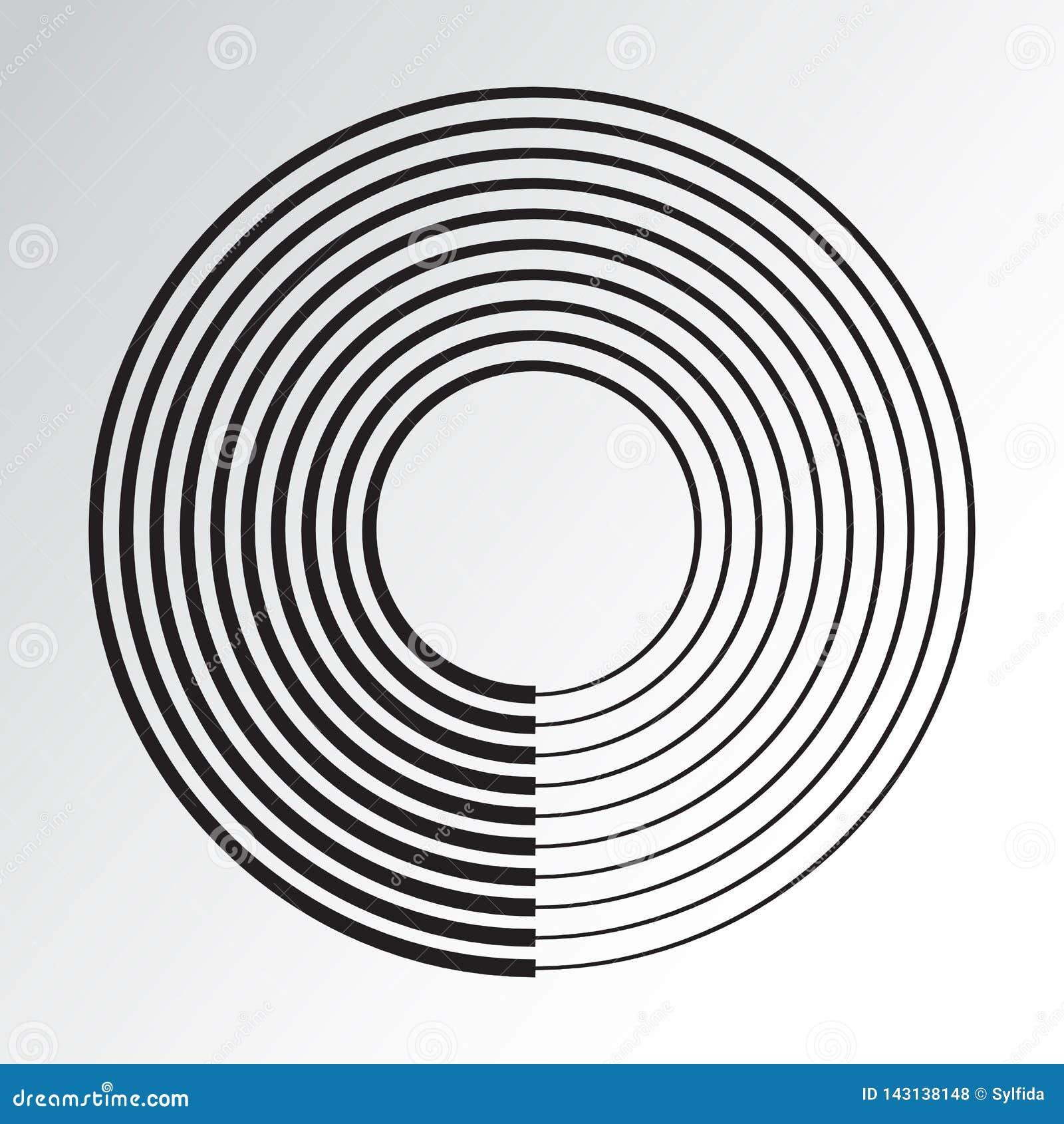 Elemento geometrico del cerchio concentrico Vettore