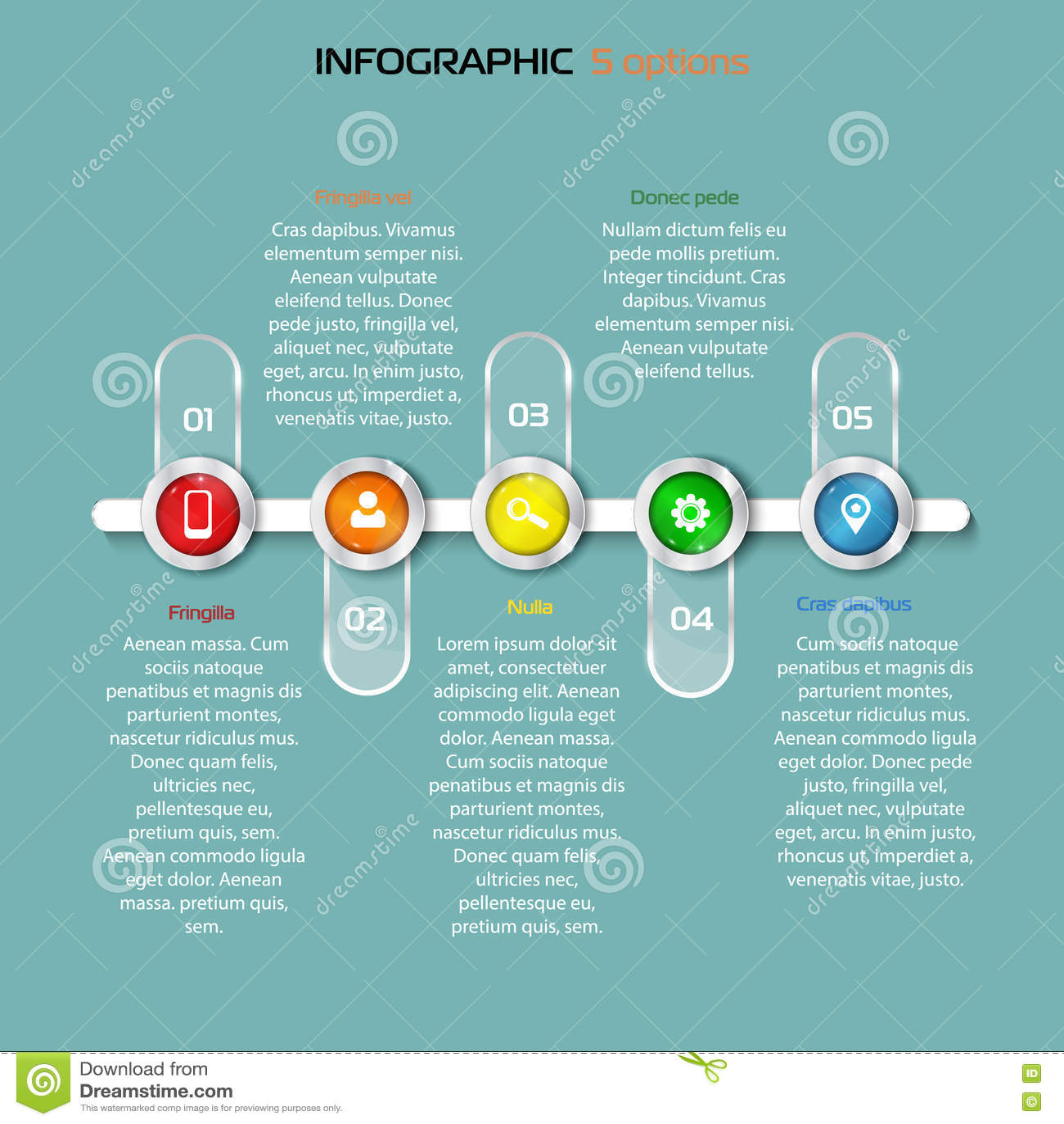 Elemento Infographic Horizontal De Los Pasos De La
