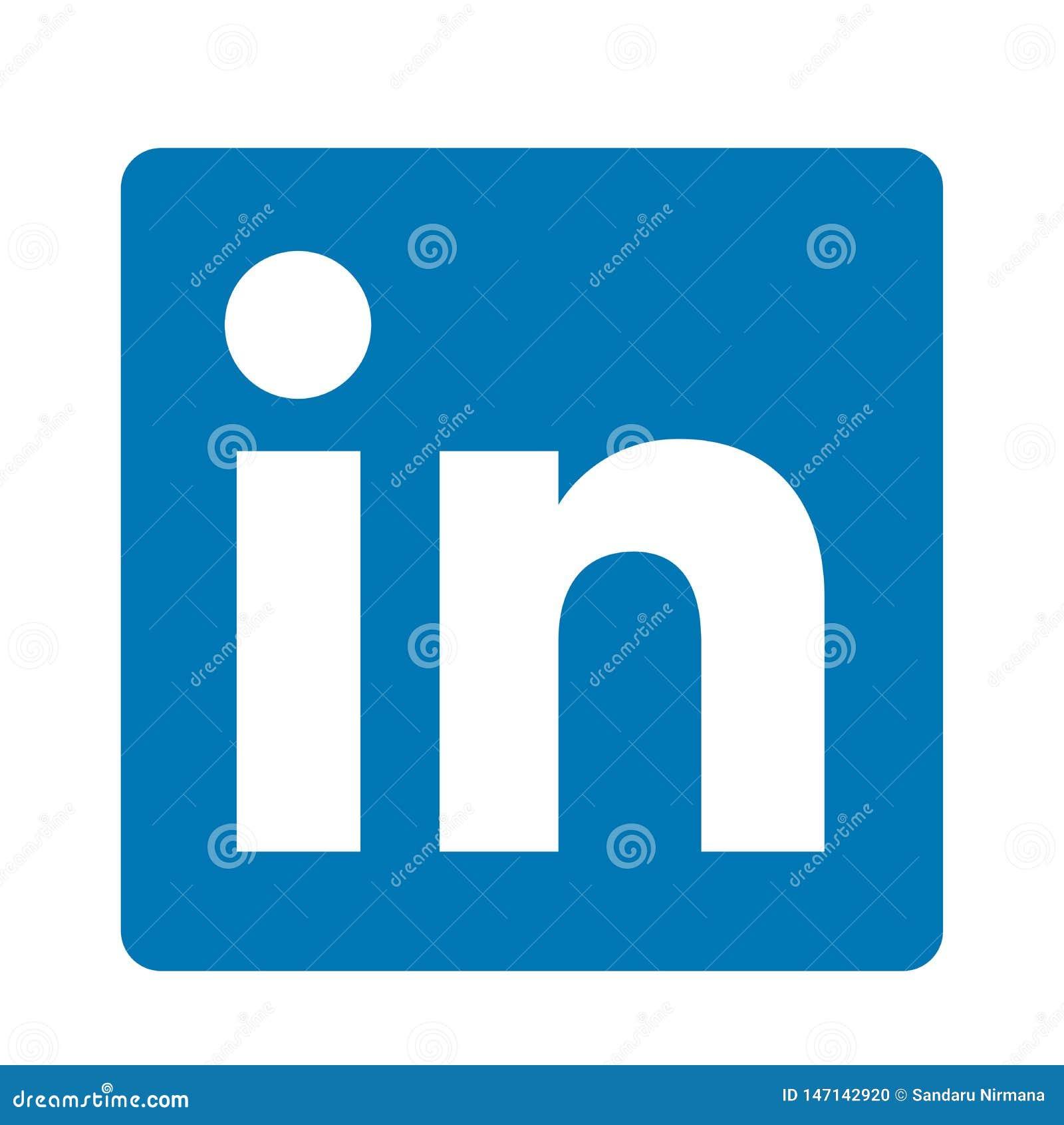 Elemento original do vetor do logotipo do ?cone do logotipo dos meios sociais de LinkedIn no fundo branco