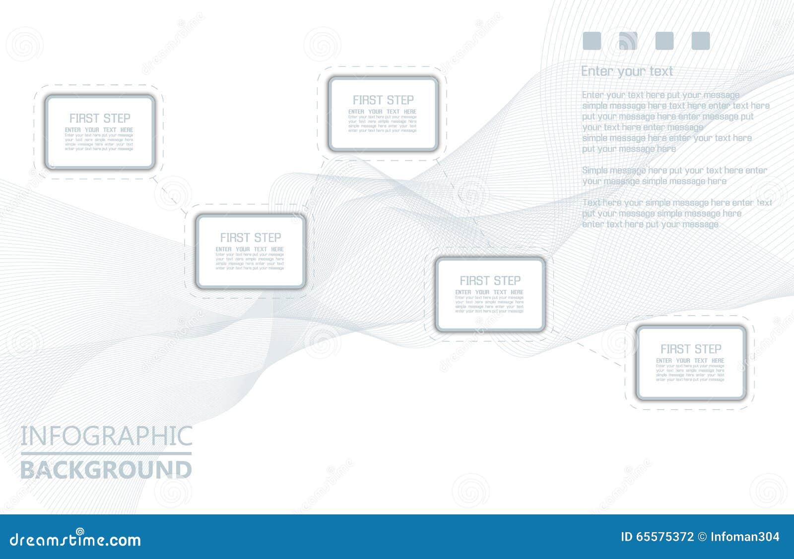 Elemento para a figura geométrica do molde infographic da carta