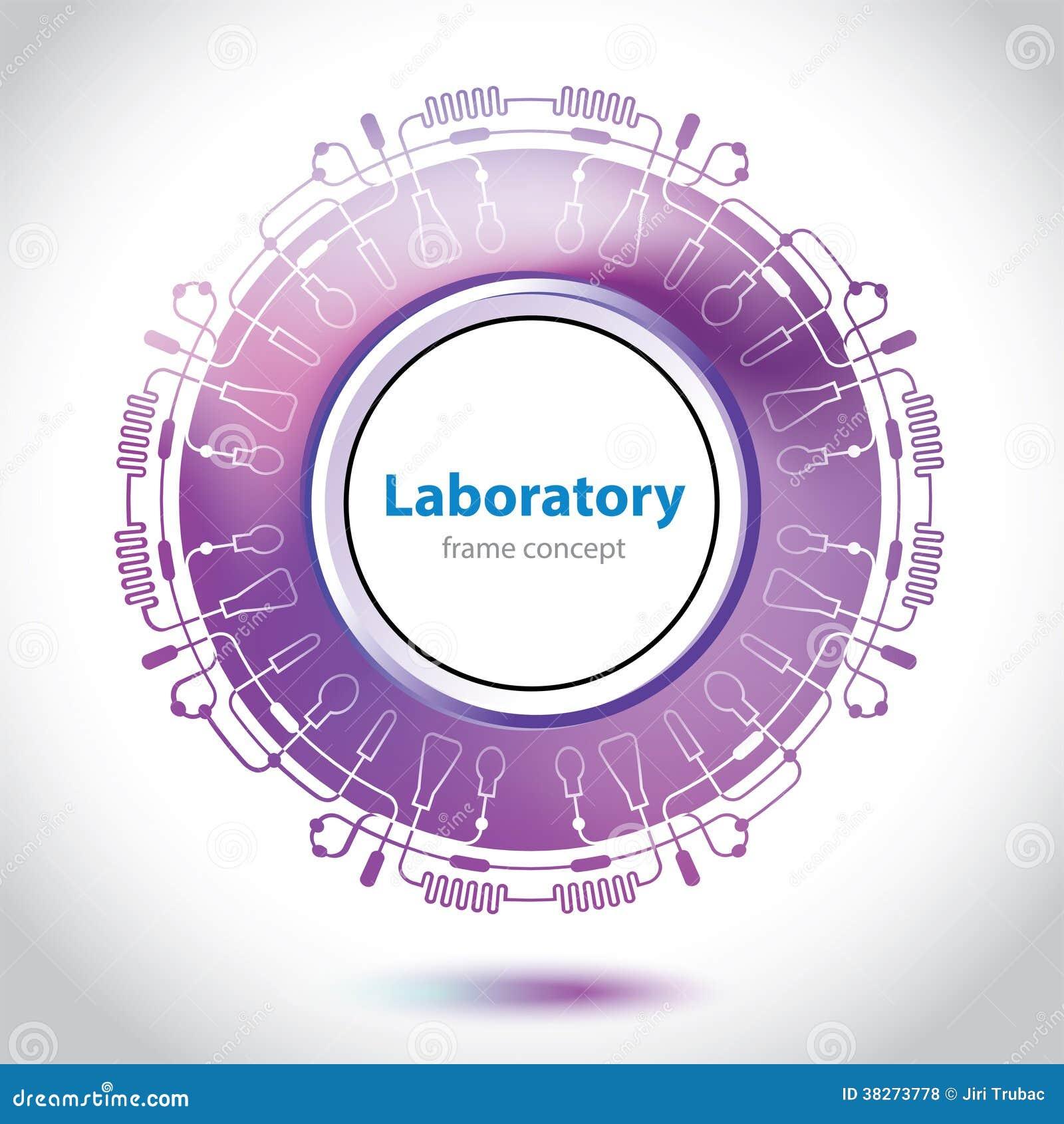 Elemento porpora astratto del laboratorio medico.