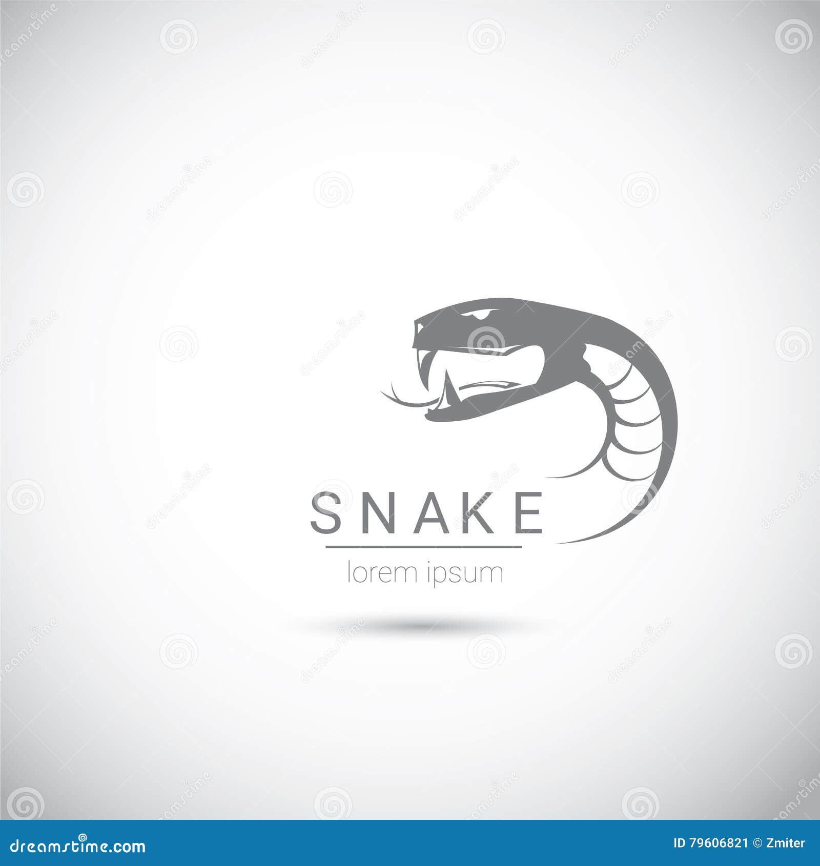 Elemento preto simples do projeto do logotipo da serpente do vetor