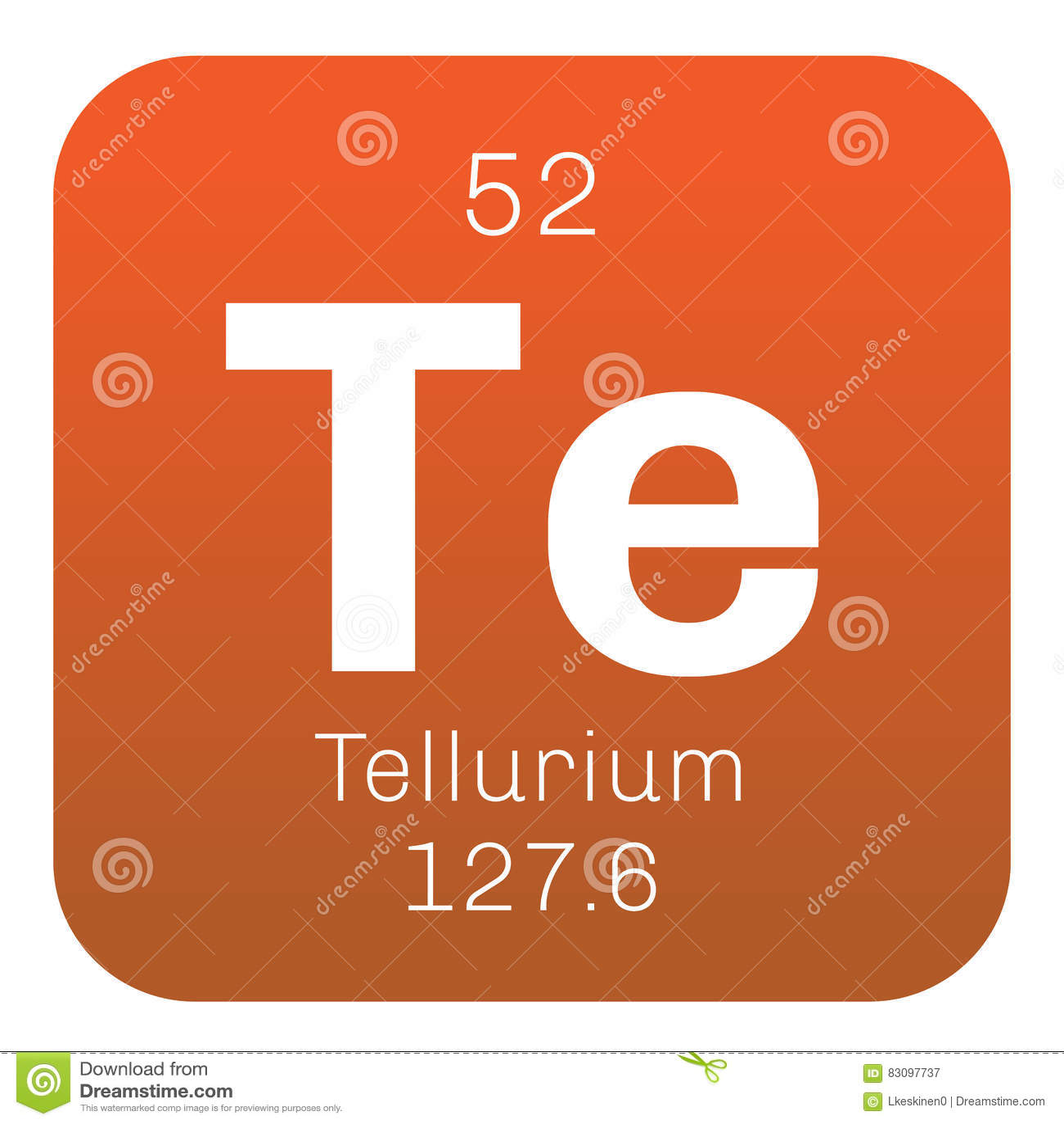 Elemento qumico del telurio imagen de archivo imagen de tomo telurio elemento qumico elemento extremadamente raro icono coloreado con nmero atmico y el peso atmico elemento qumico de la tabla peridica urtaz Gallery