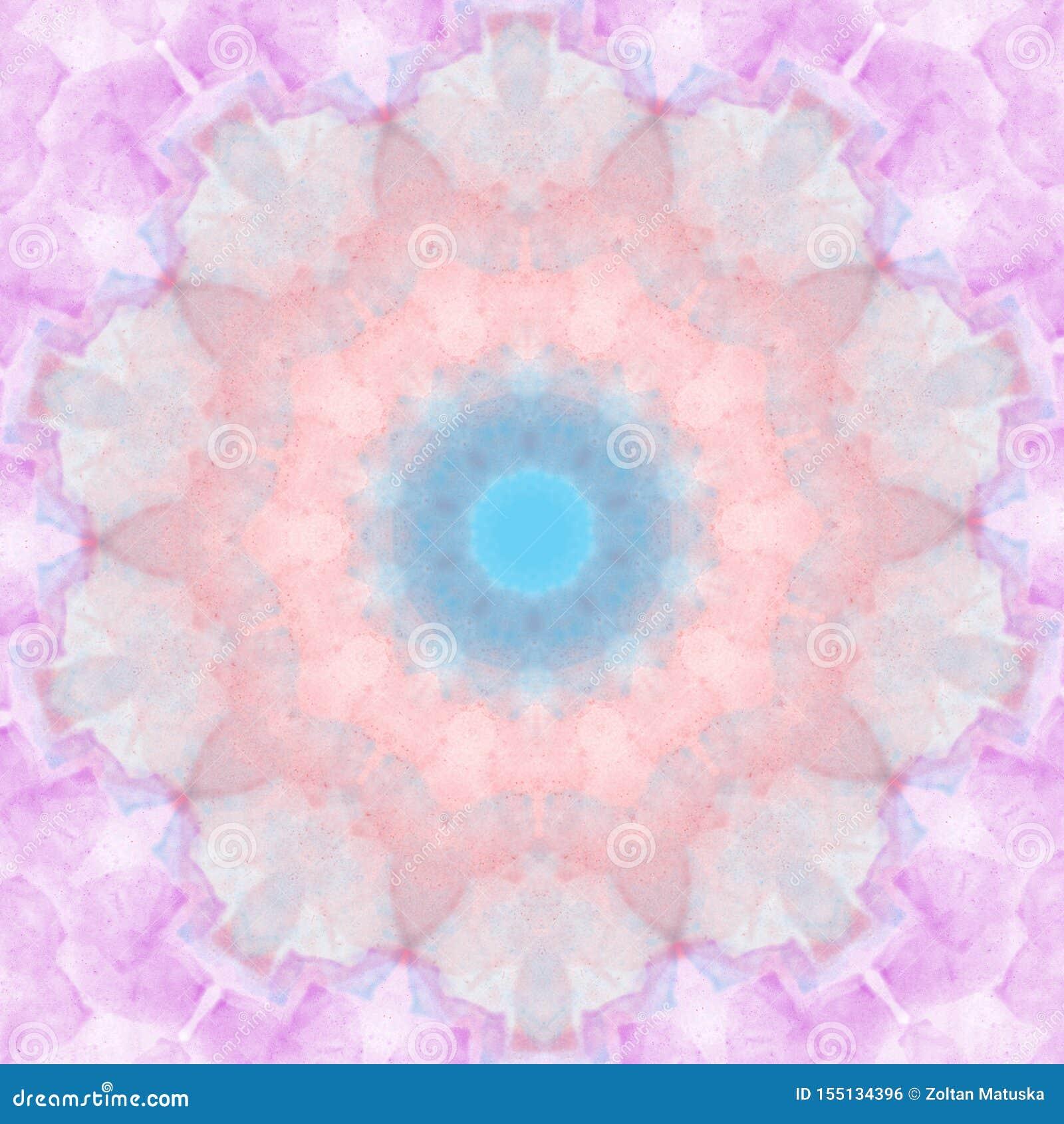 Elemento rotondo di progettazione del cerchio geometrico del modello di stile della mandala di colore pastello