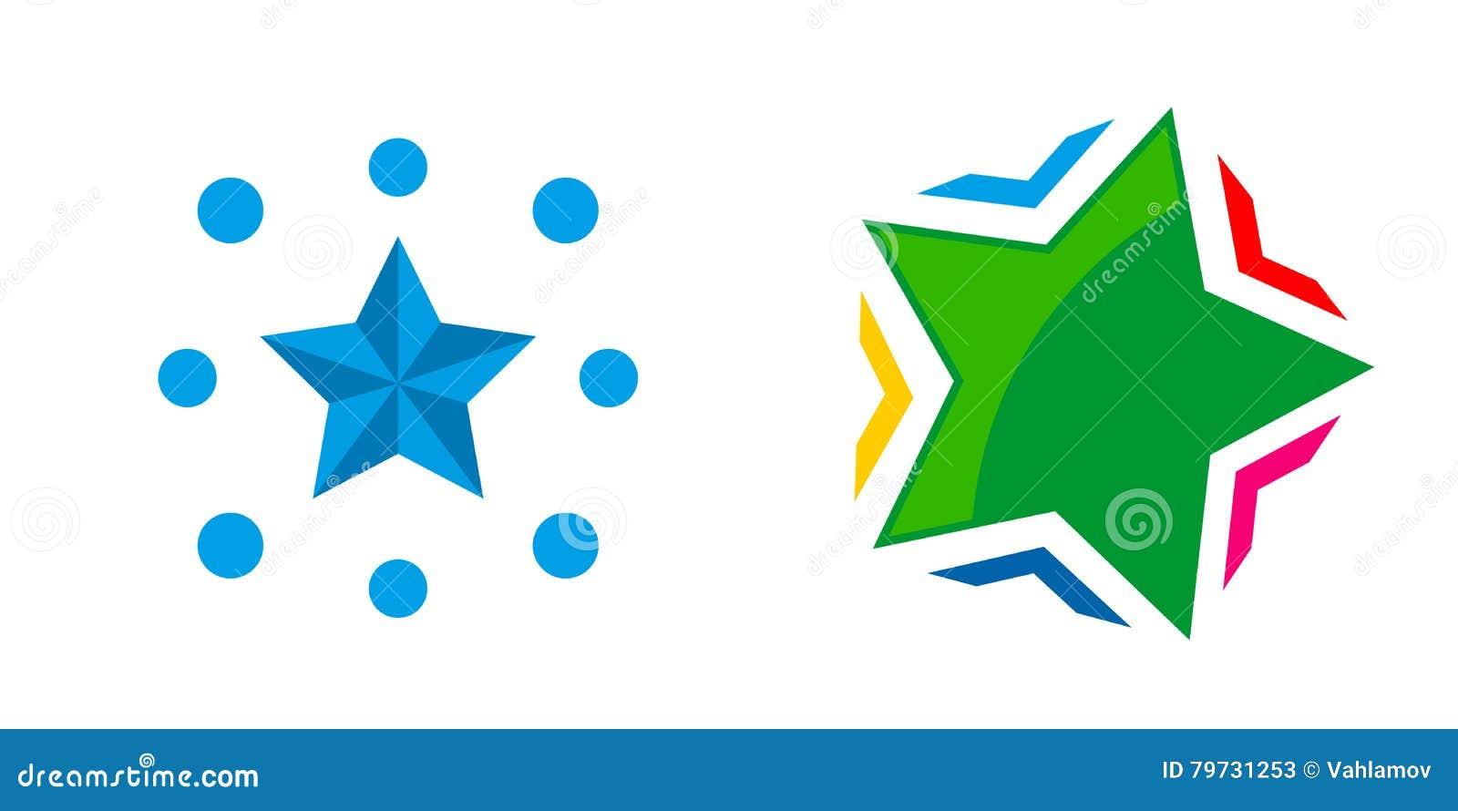 Elementos abstractos de la plantilla del diseño del icono del logotipo de la estrella