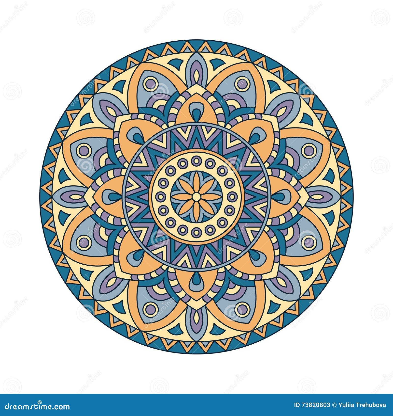Elementos abstractos del dise o mandalas redondas en - Plantilla mandala pared ...