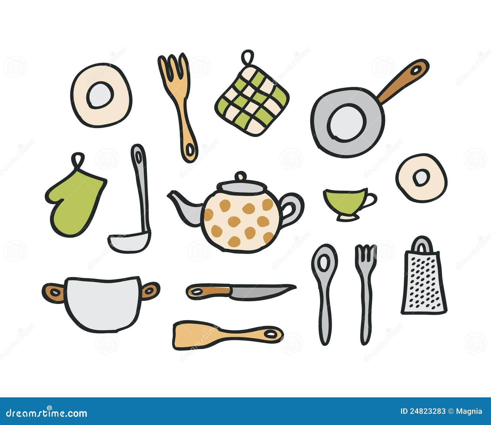 Elementos da cozinha ilustra o do vetor ilustra o de for Elementos cocina