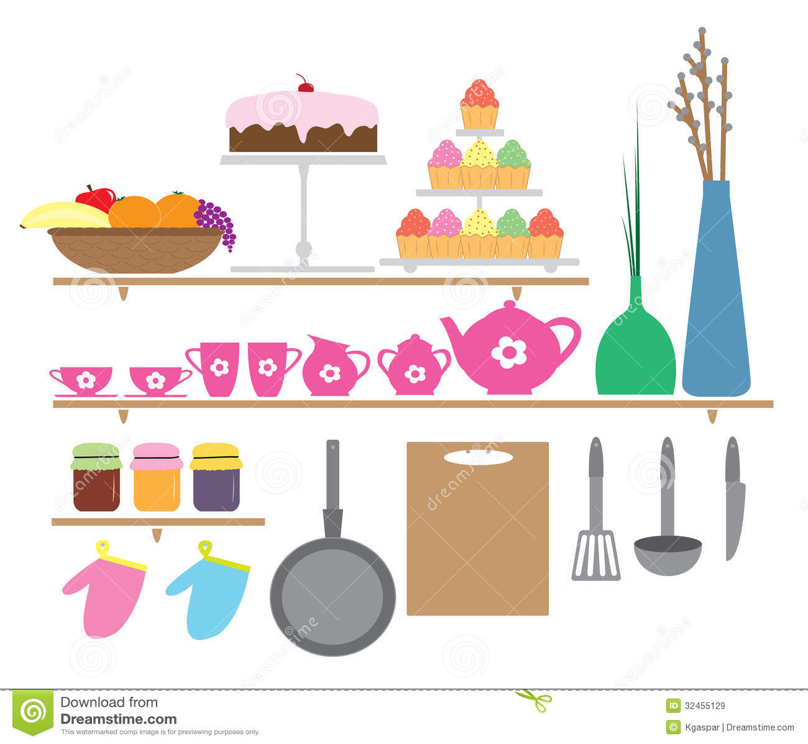 Elementos da cozinha estilo dos desenhos animados for Elementos de cocina para chef