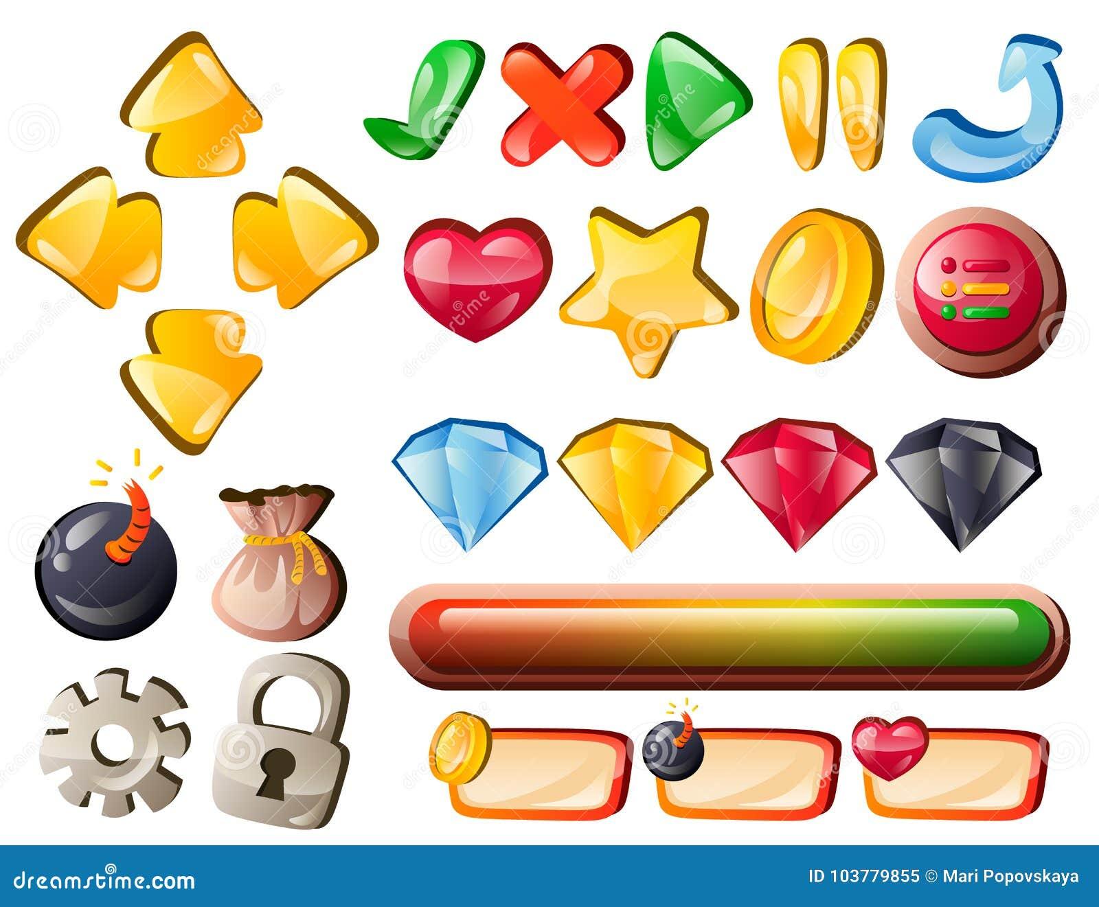 Elementos da relação do jogo da arte para pontos batidos