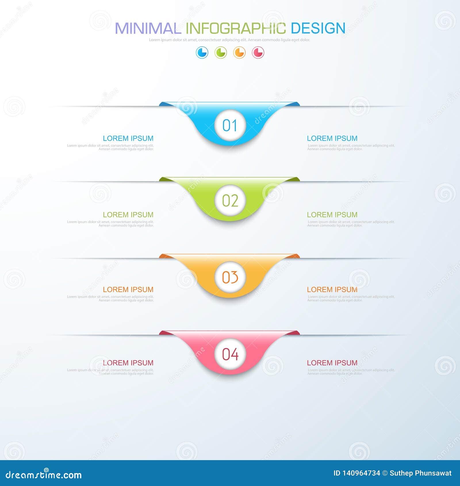 Elementos de Infographic con el icono del negocio en proceso de fondo o pasos y diagramas a todo color del flujo de trabajo de la