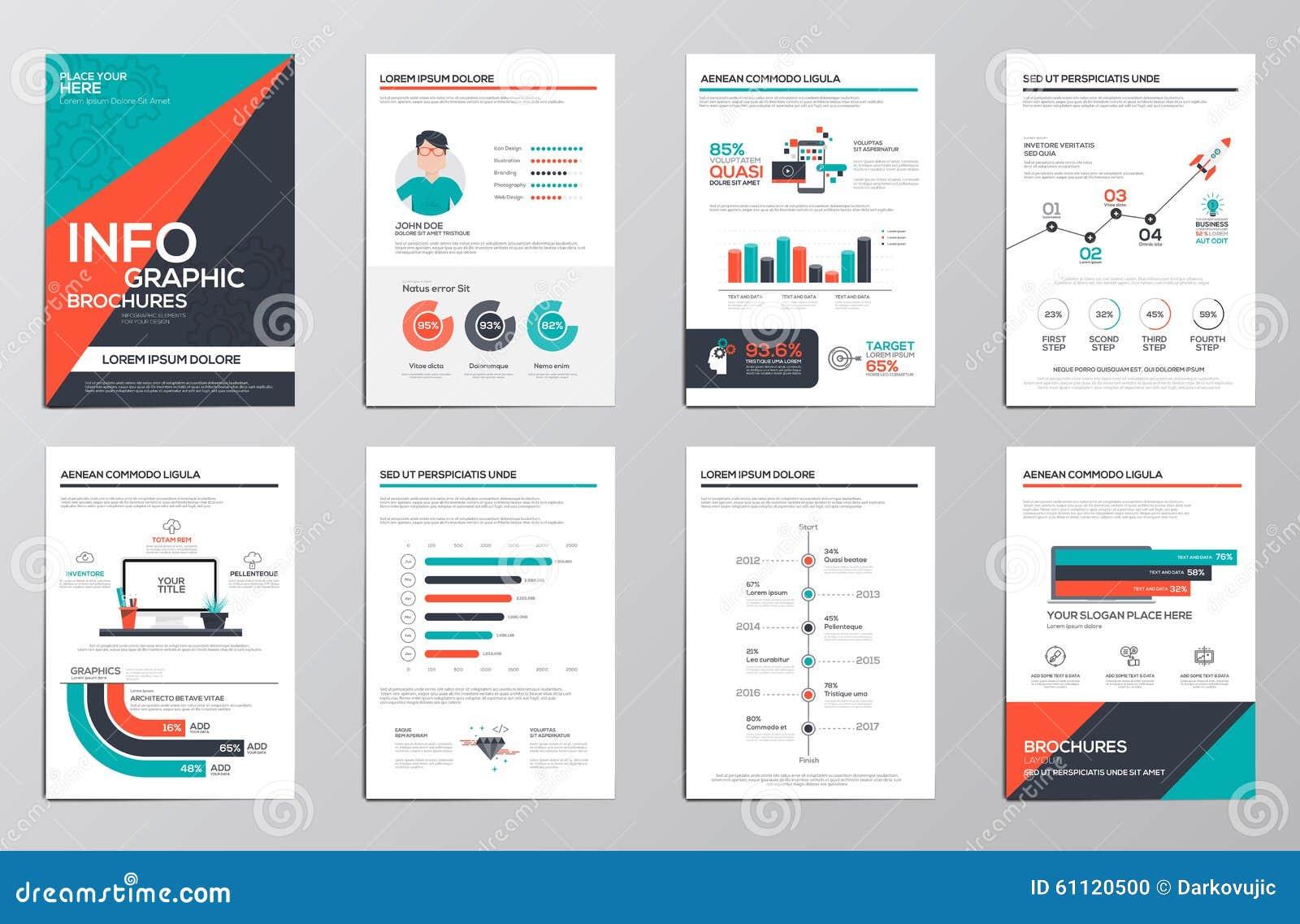 Elementos de Infographics para los folletos corporativos
