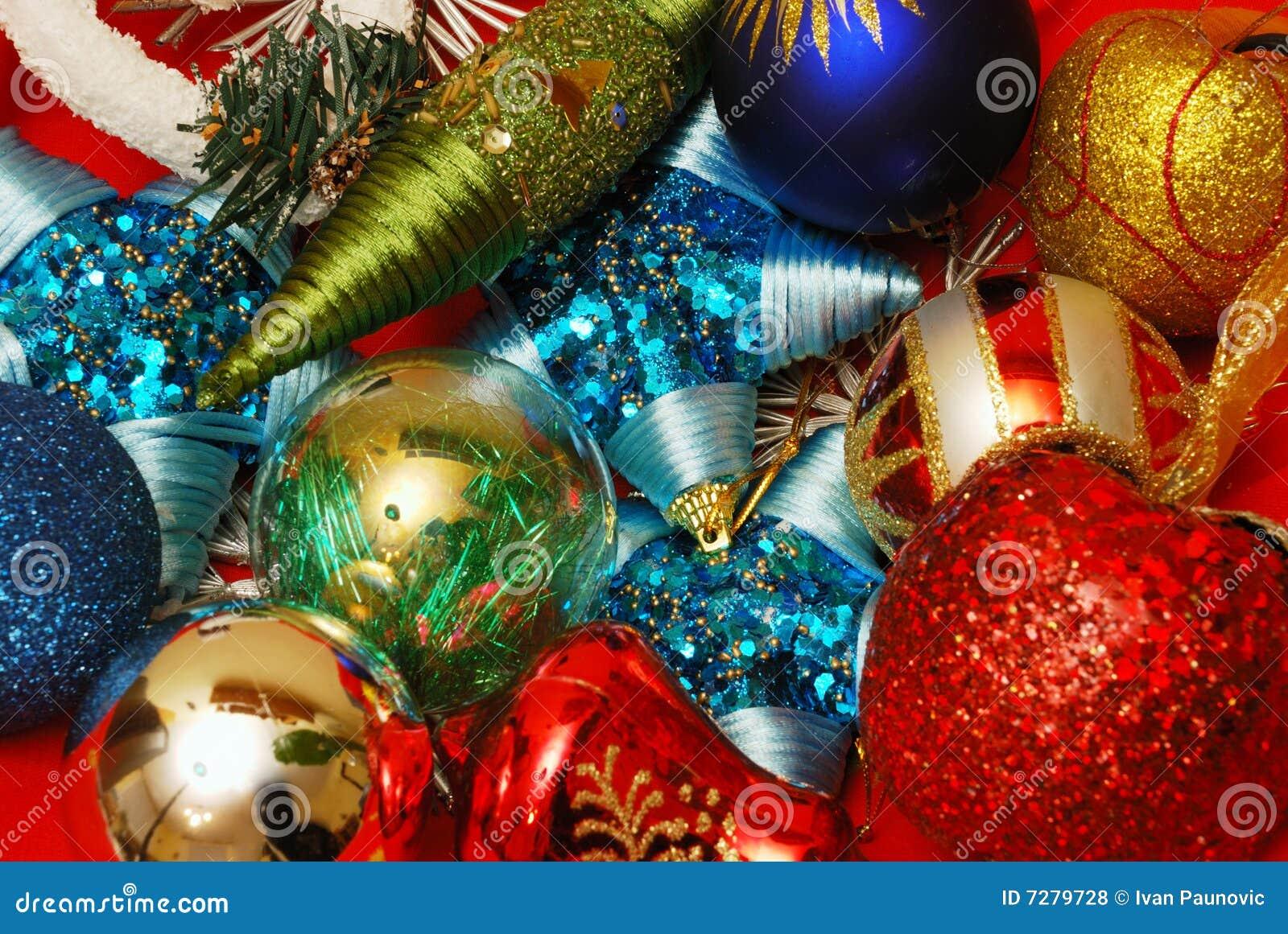 Elementos de la decoración de la Navidad