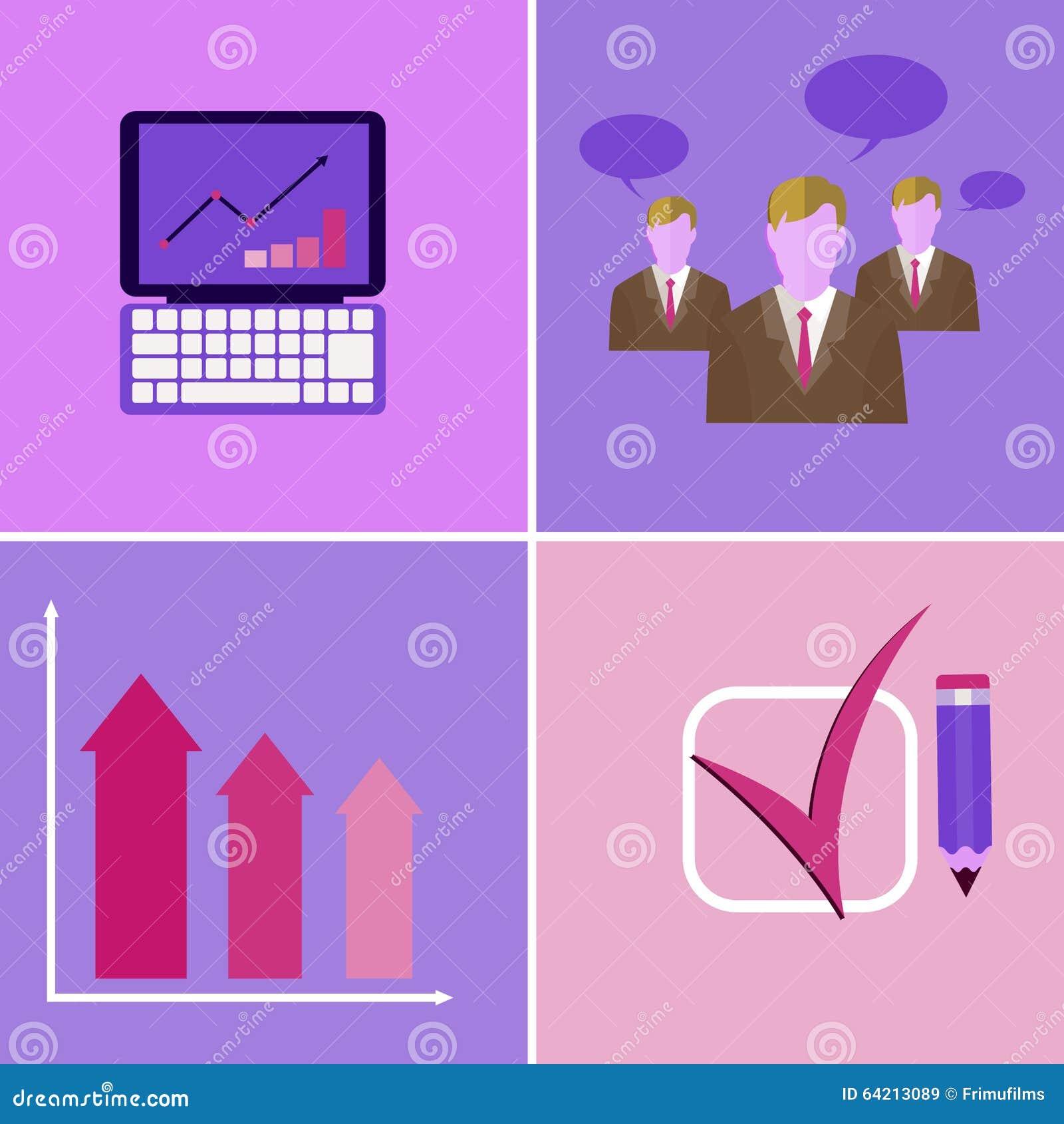 Elementos de la presentación de la reunión de negocios