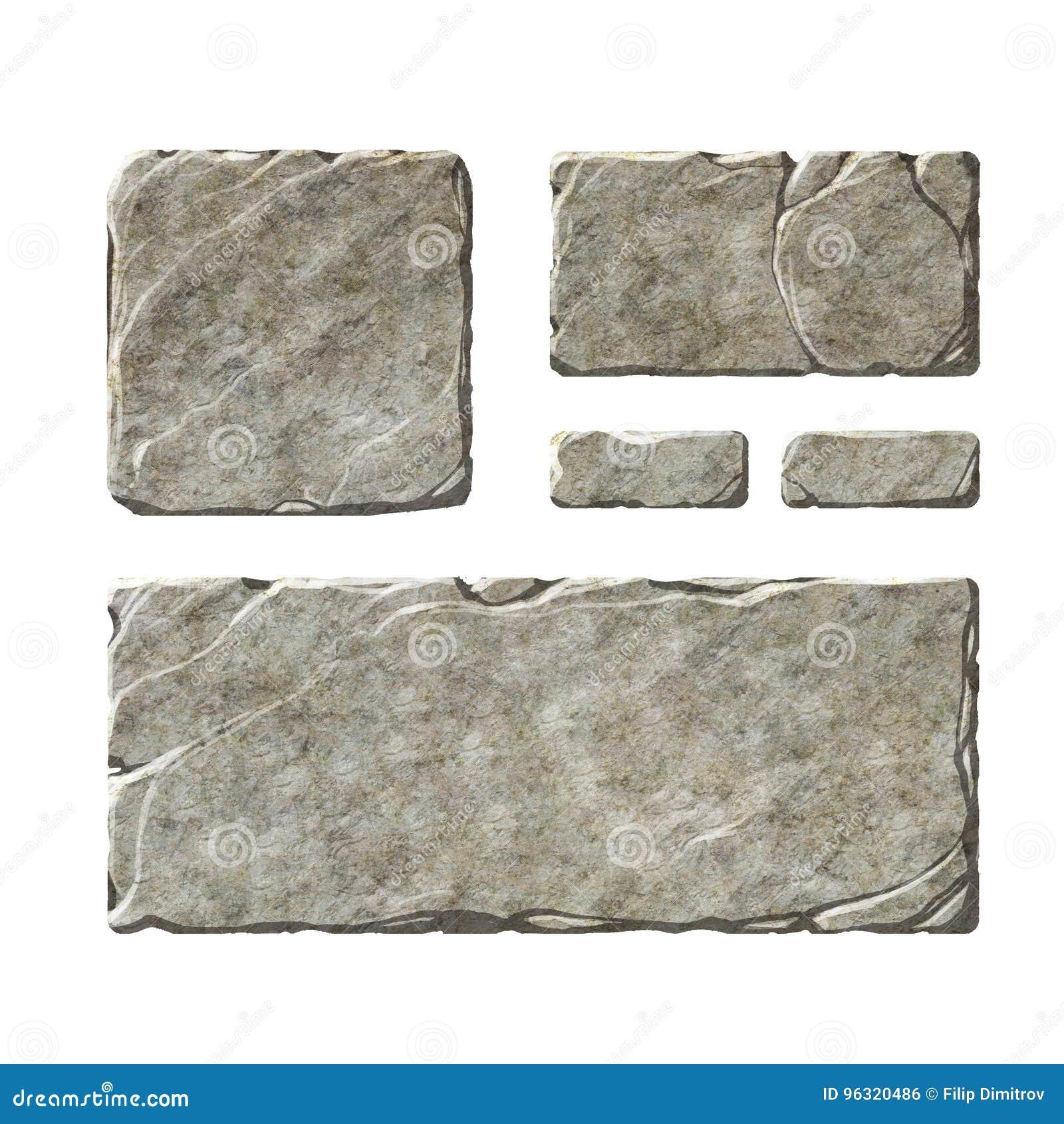 Elementos de pedra da relação