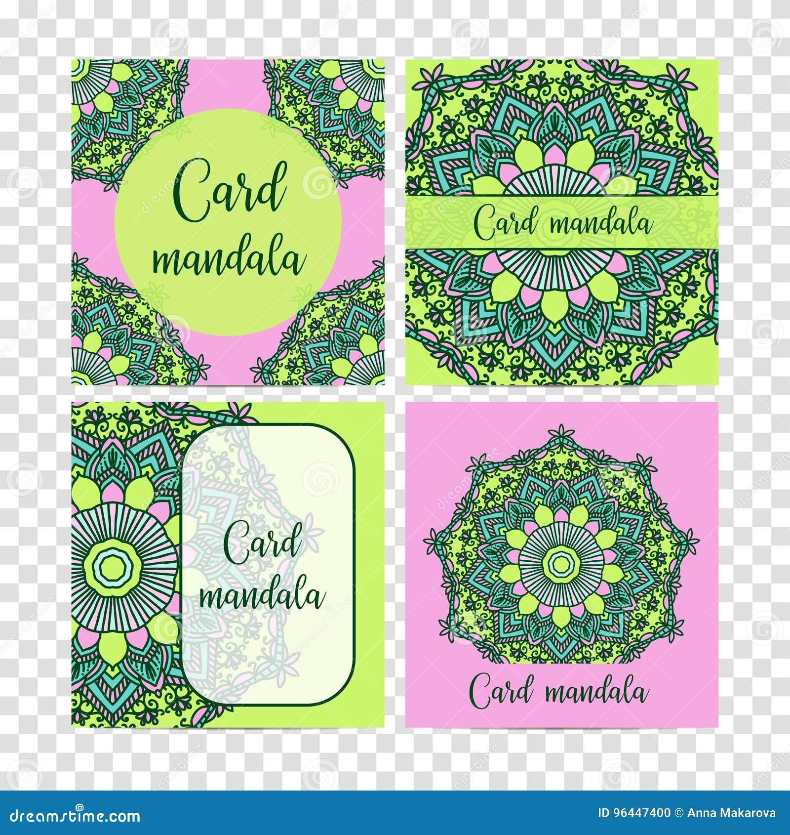 Elementos decorativos ajustados do vintage Cartão ou convite, fundo tirado mão Teste padrão oriental, ilustração do vetor islam