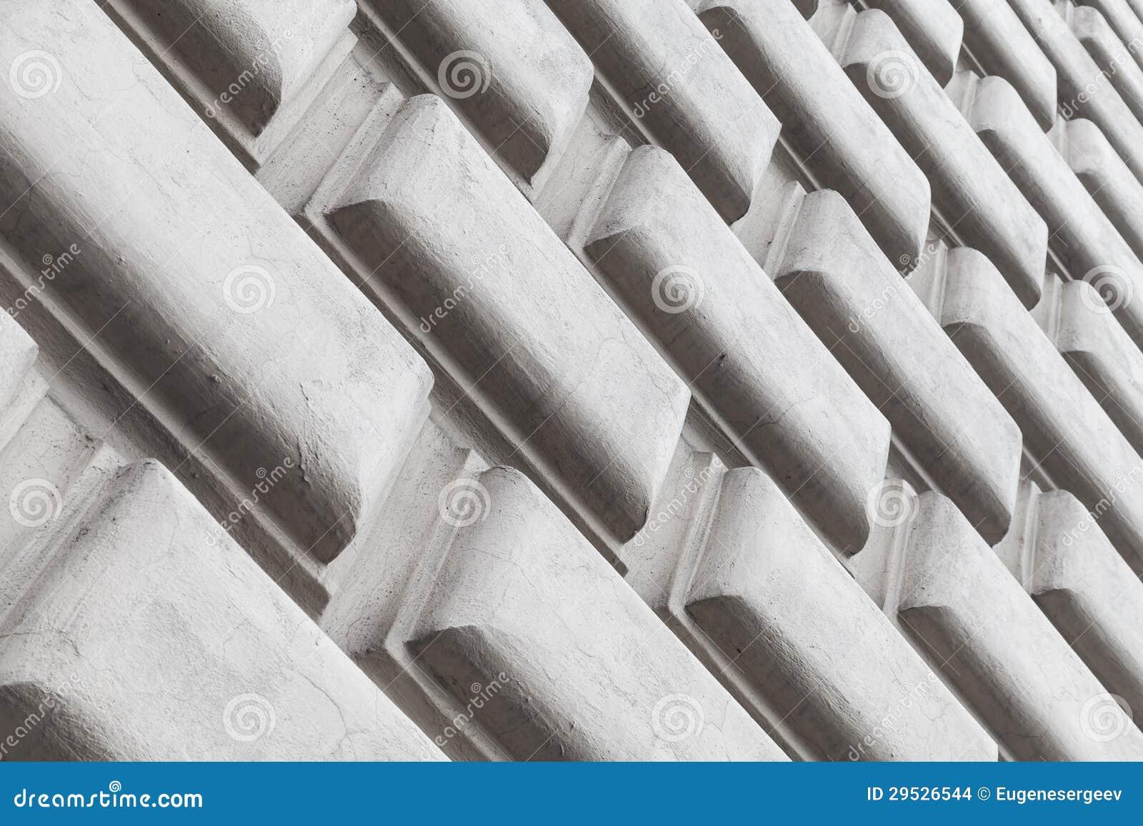 Elementos decorativos da parede da arquitetura abstrata