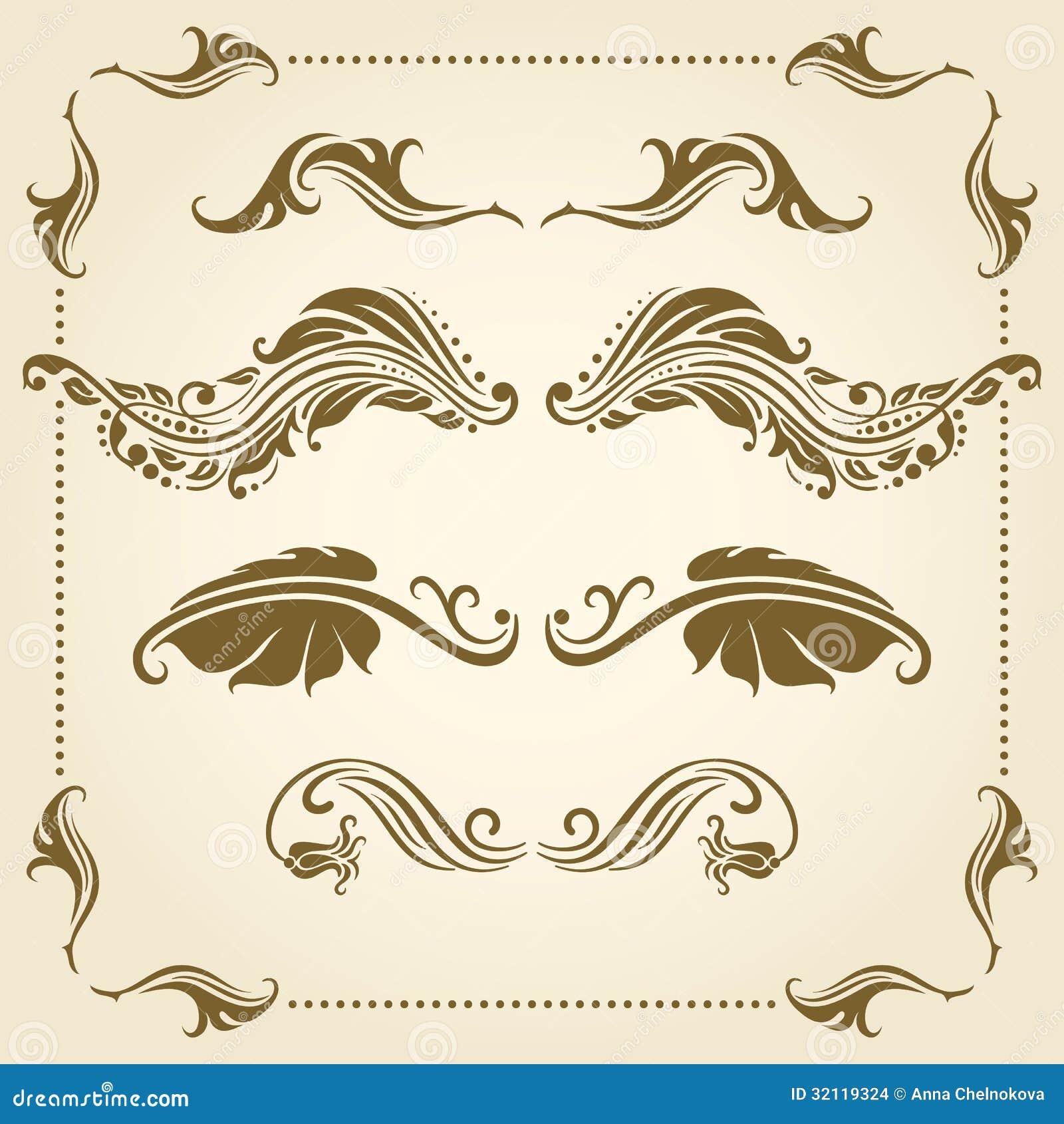 elementos decorativos del vector ilustraci n del vector
