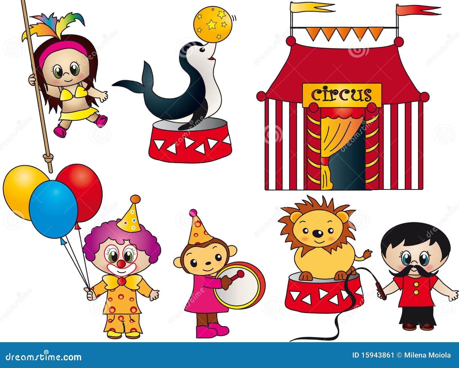 elementos del circo stock de ilustraci243n ilustraci243n de