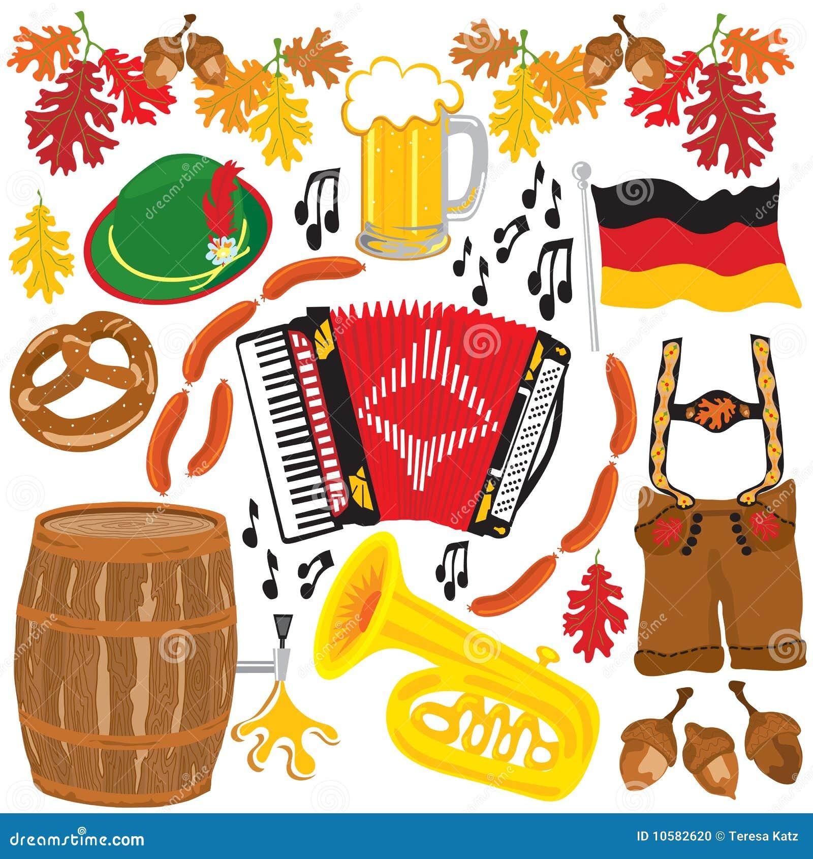 Elementos del clipart del partido de Oktoberfest