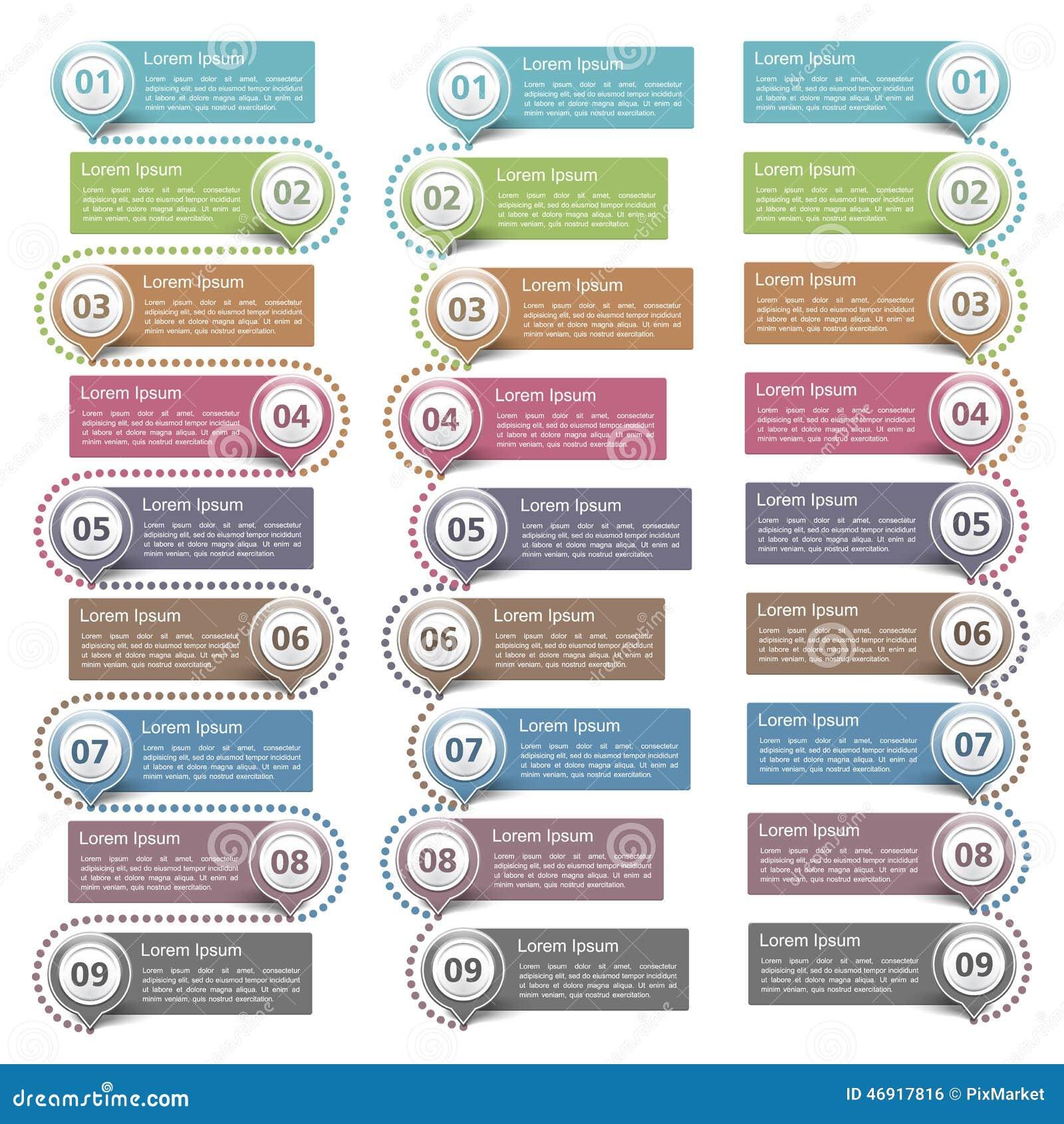 Elementos del diseño con números