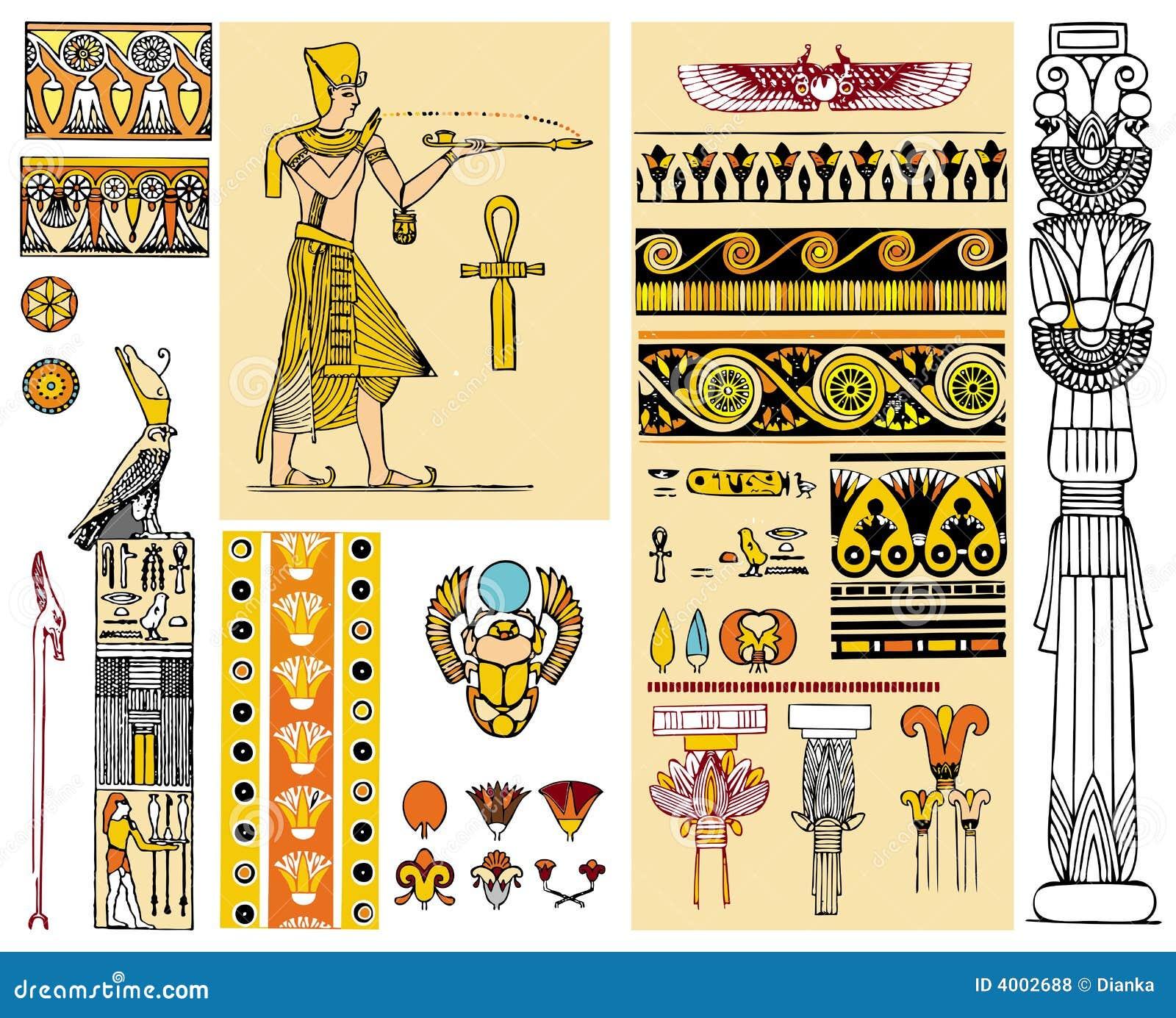 Elementos del diseño de Egipto