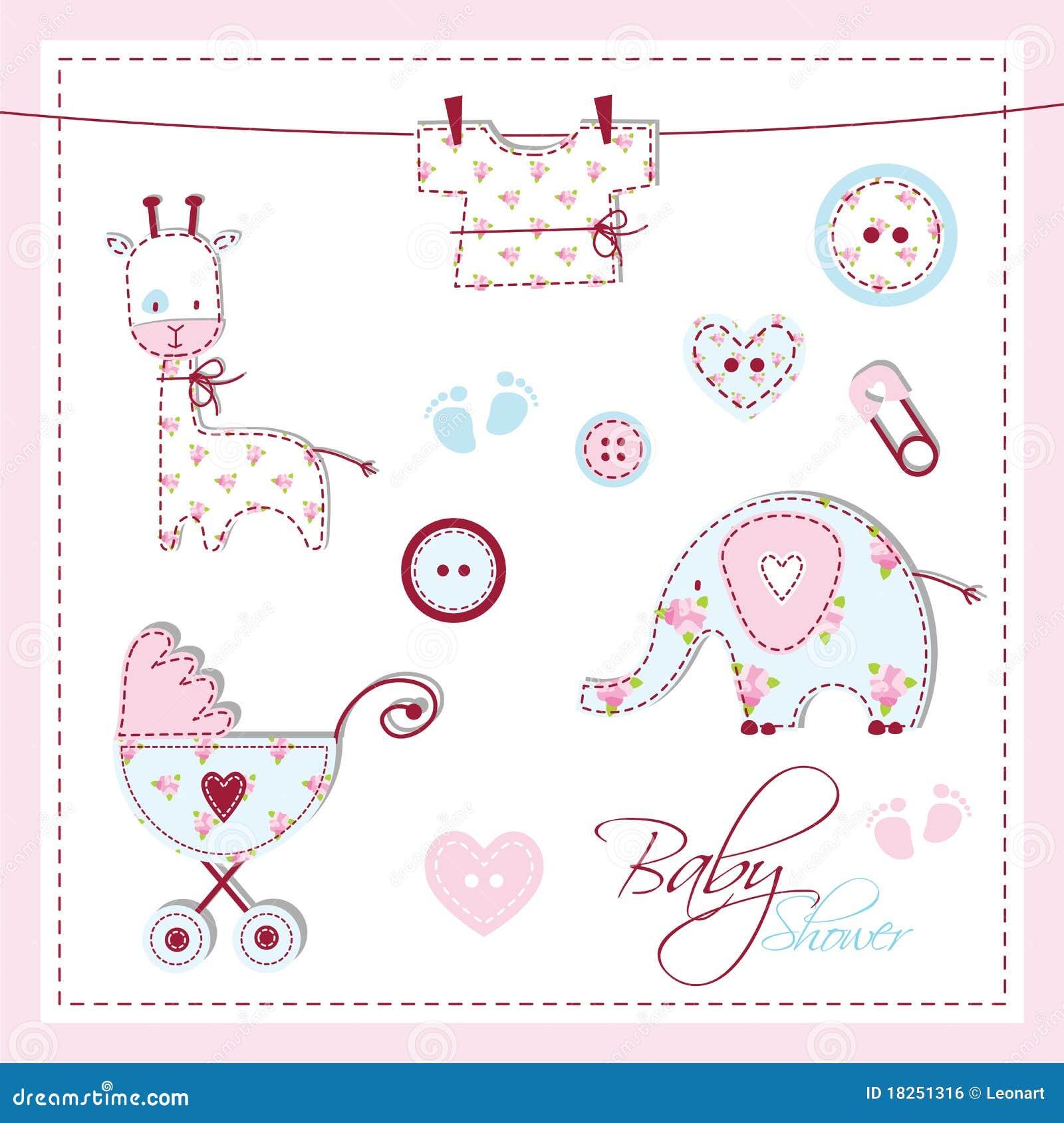 Elementos del diseño de la ducha de bebé