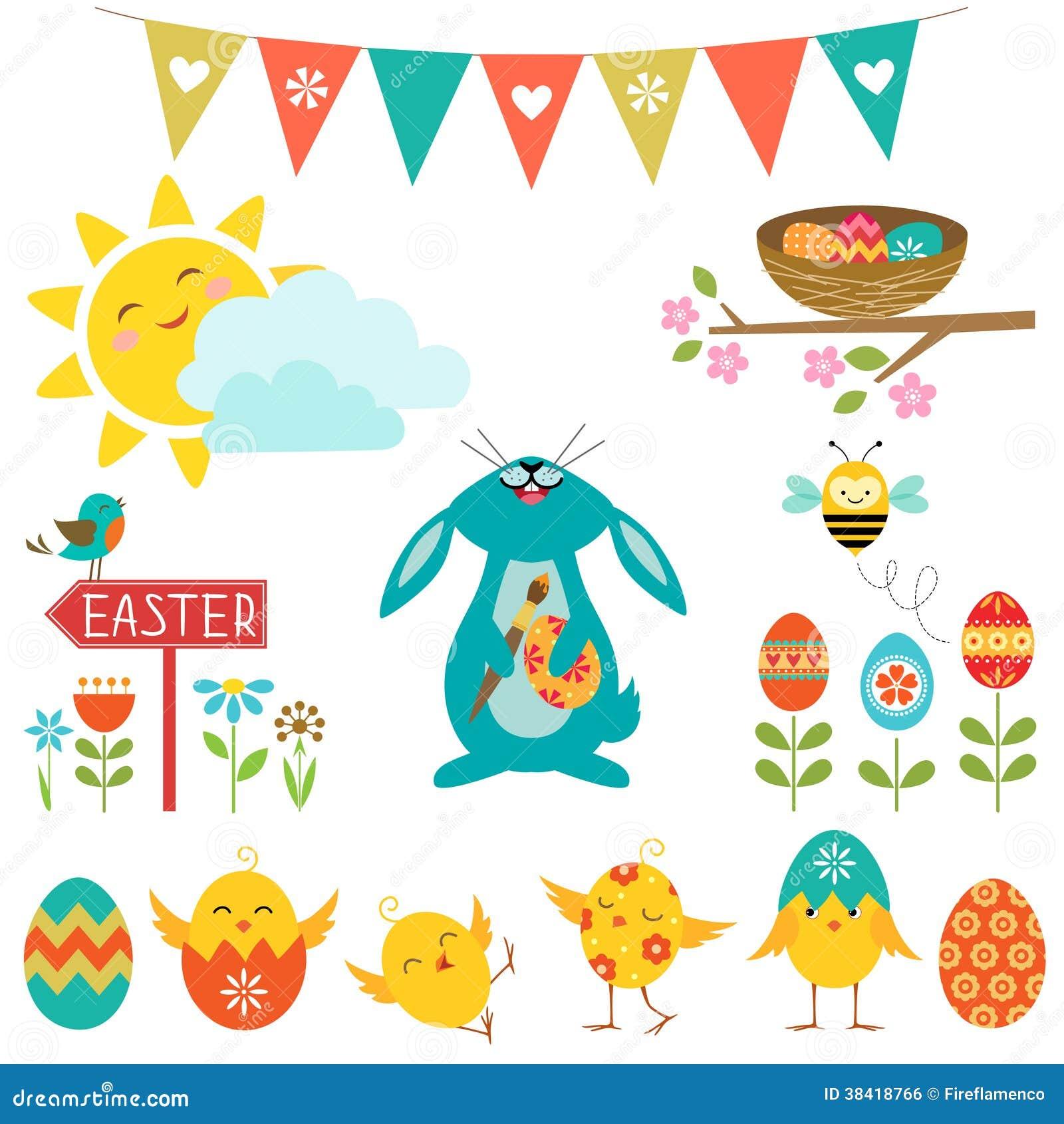 Elementos del diseño de Pascua