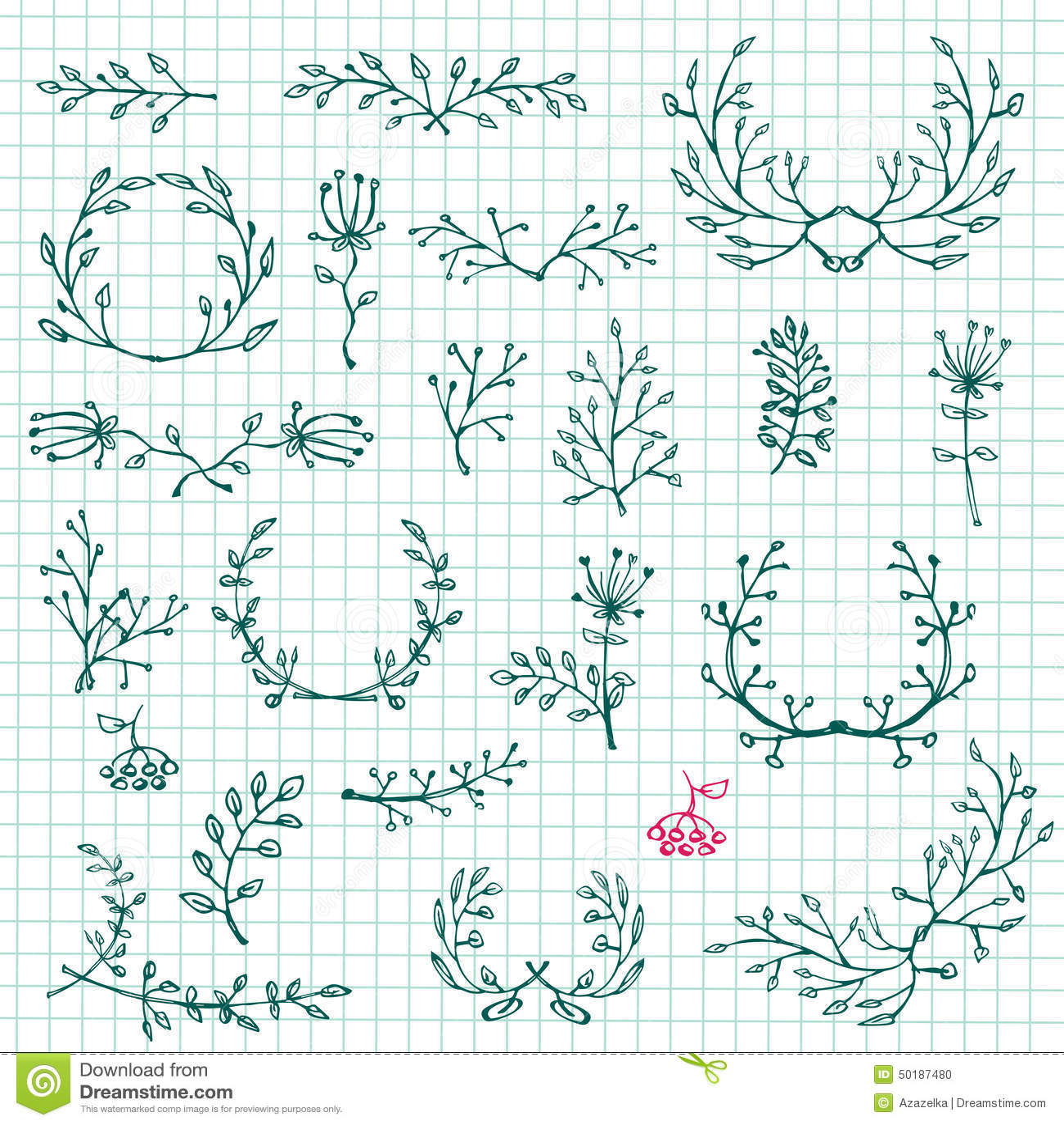 Elementos Del Diseño Gráfico Colección Floral Del Marco Vector ...