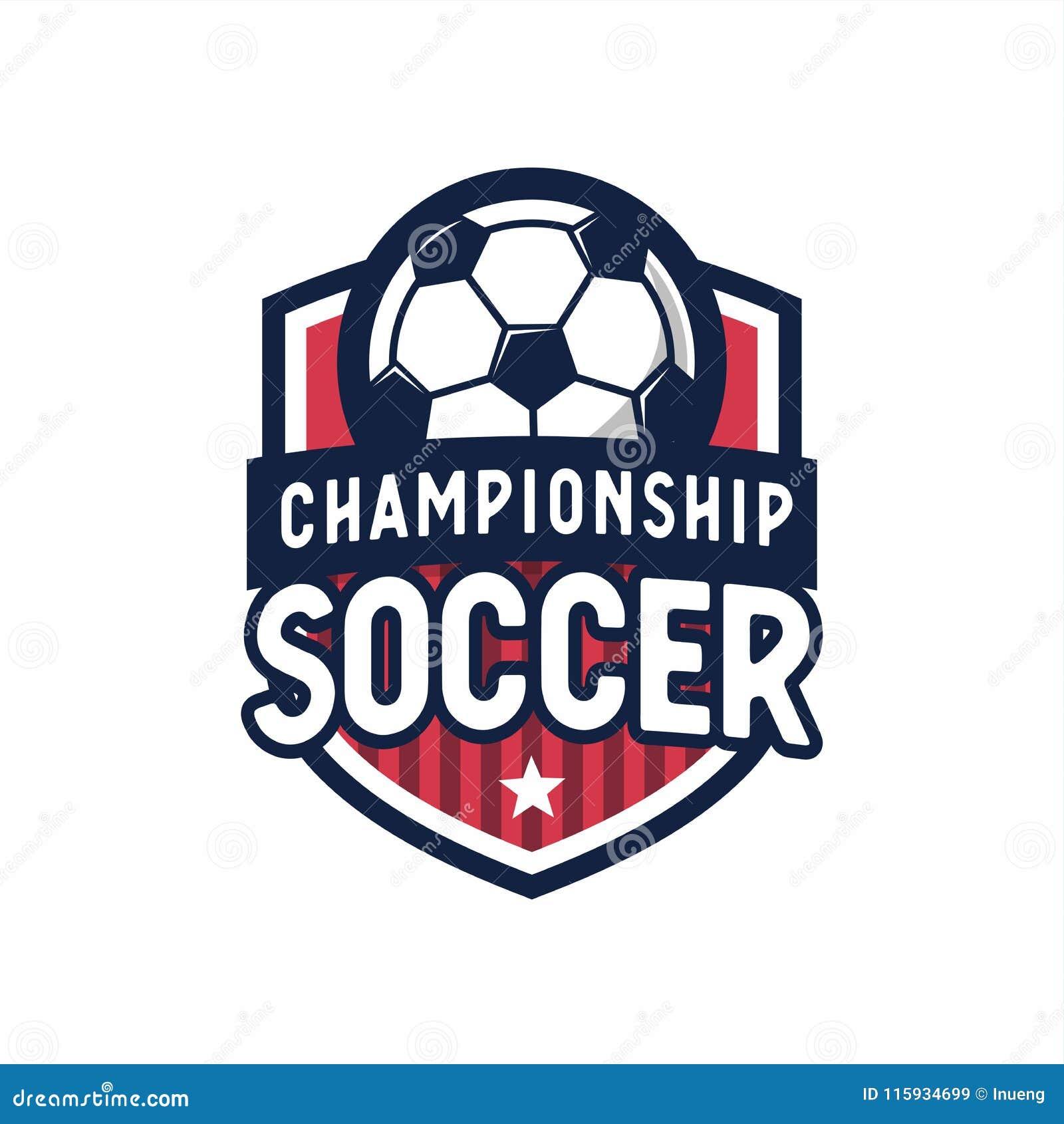 Elementos del diseño del logotipo de la liga de fútbol del fútbol para el  equipo de e571fc600ec16
