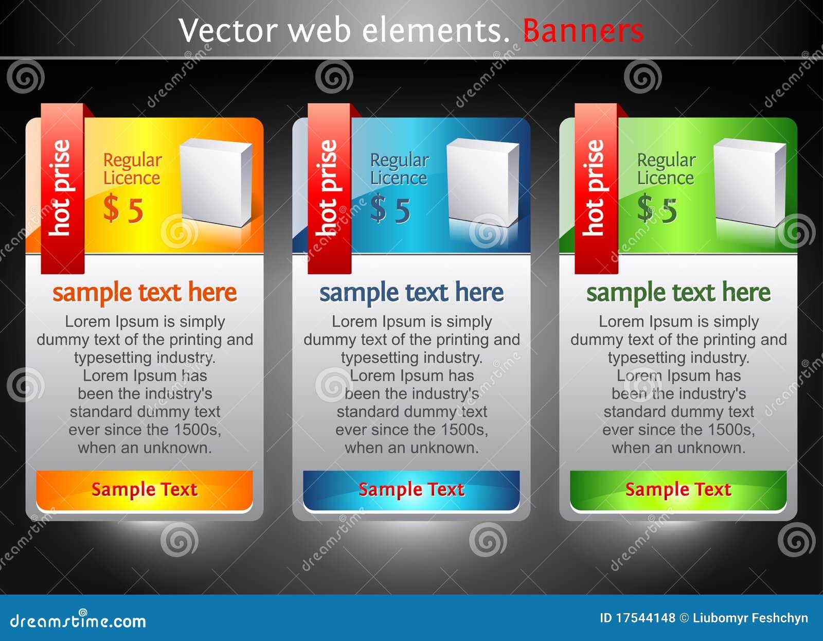 Elementos del Web. Banderas de la venta