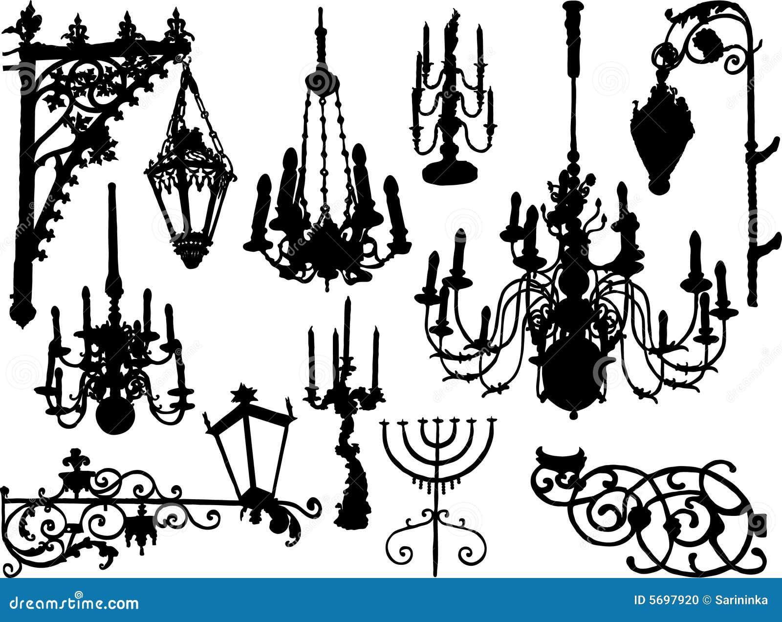 Elementos do baroque do vetor