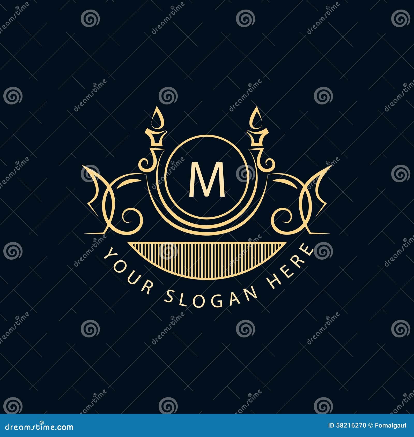 Elementos do projeto do monograma, molde gracioso