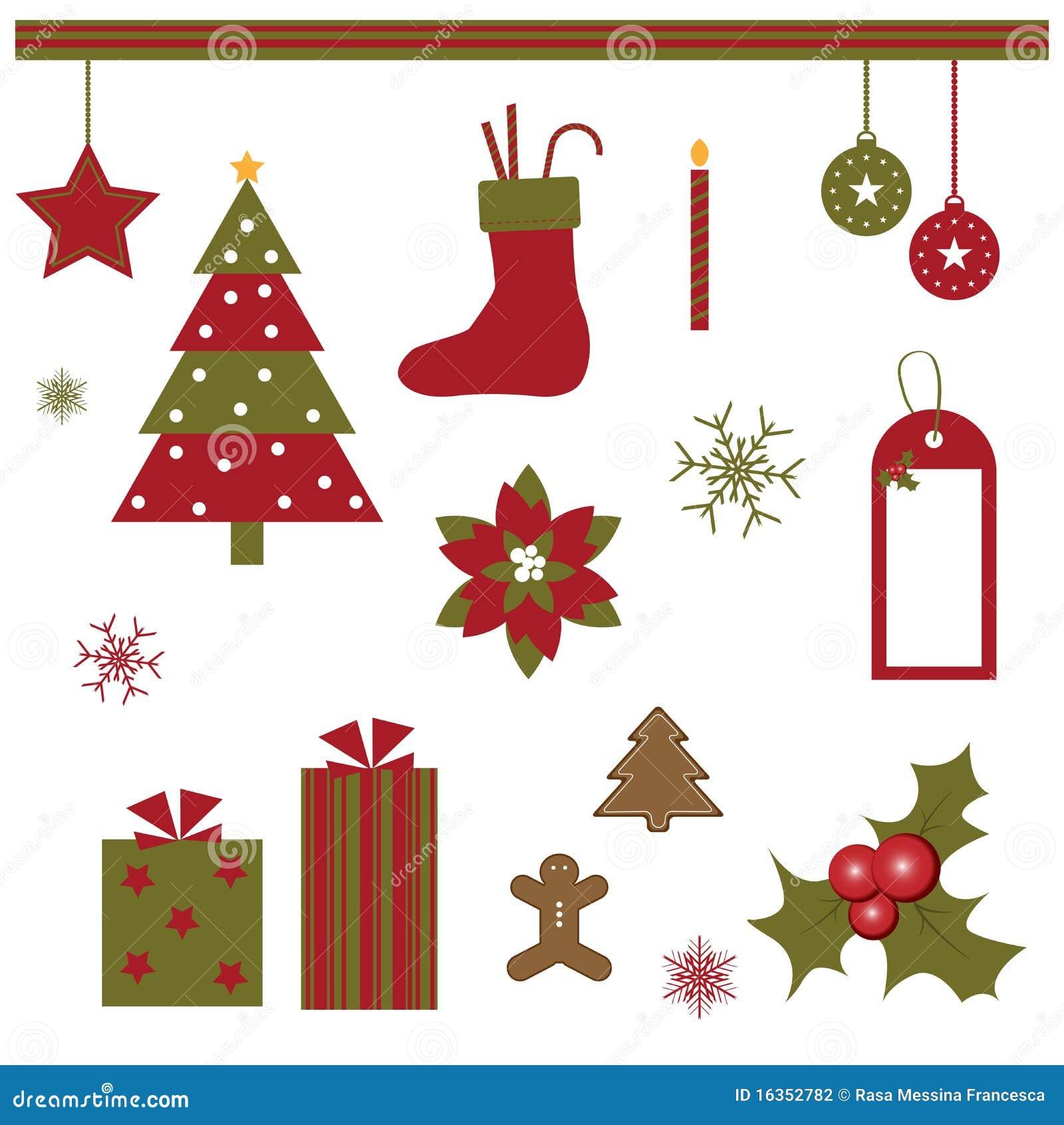 Elementos do projeto do Natal