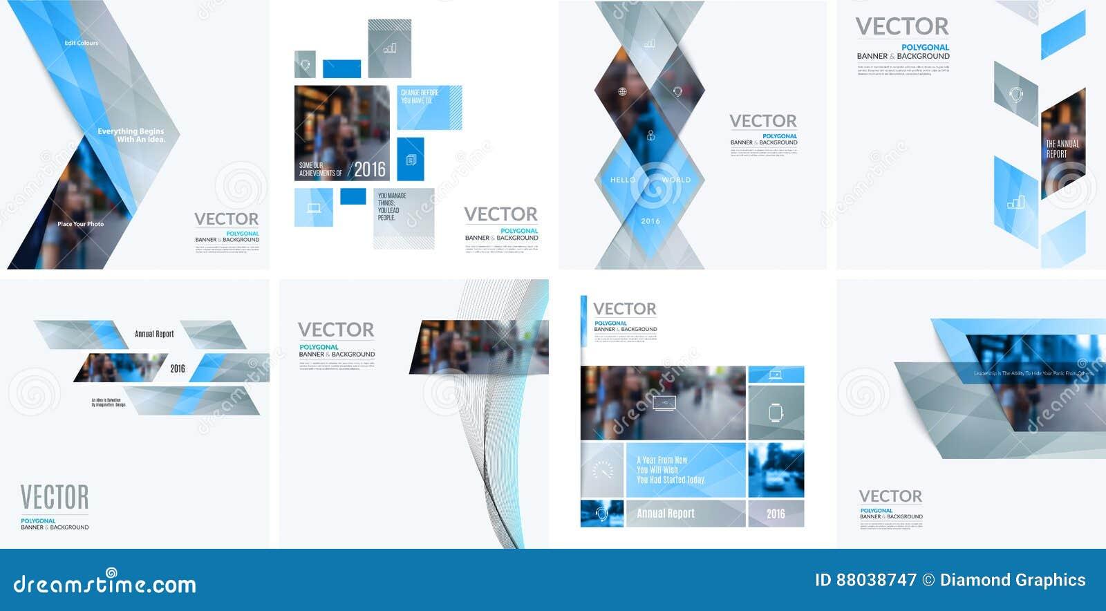 Elementos do projeto do vetor do negócio para a disposição gráfica Resumo moderno