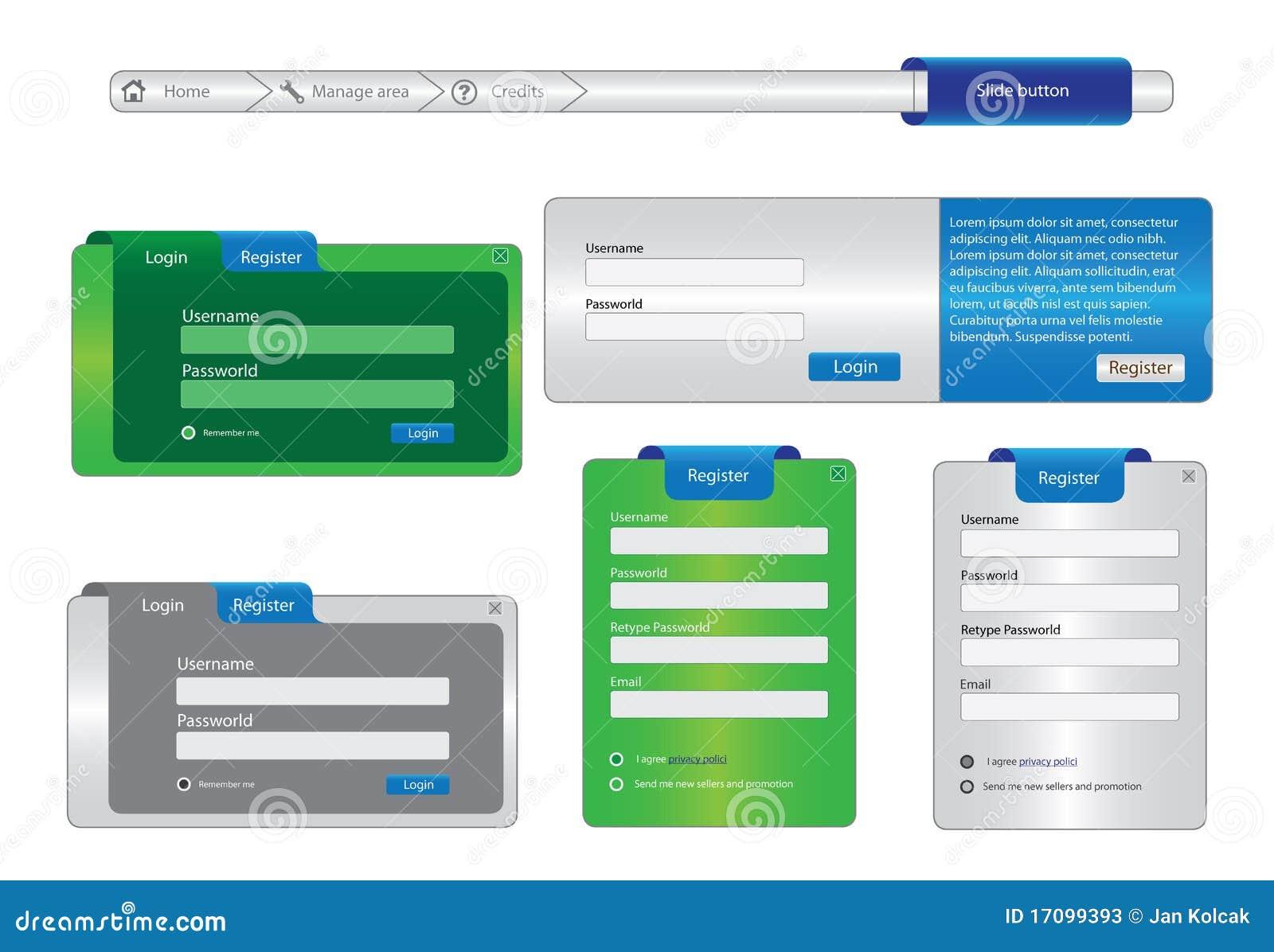 Elementos do quadro de projeto de Web