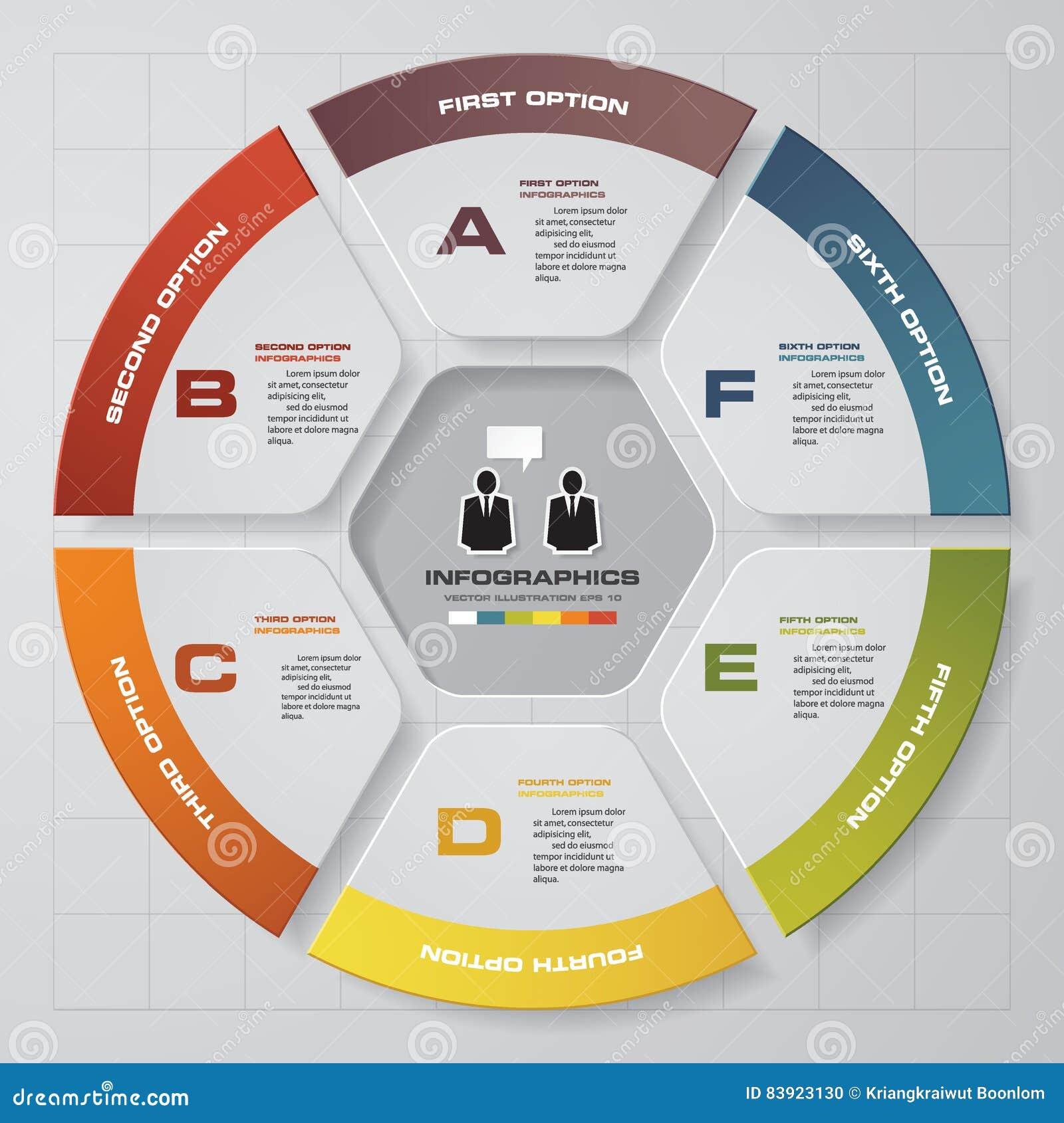 Elementos dos infographis das etapas do sumário 6 Ilustração do vetor