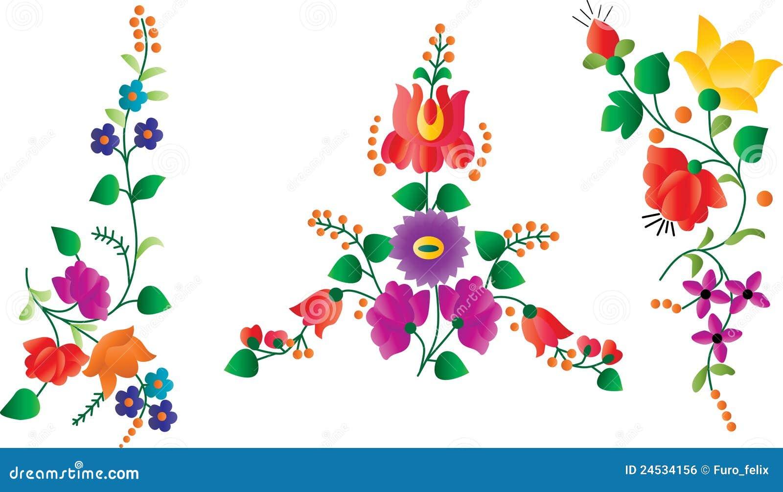 Elementos florales retros de la decoraci n imagen de archivo libre de regal as imagen 24534156 - Elementos de decoracion ...