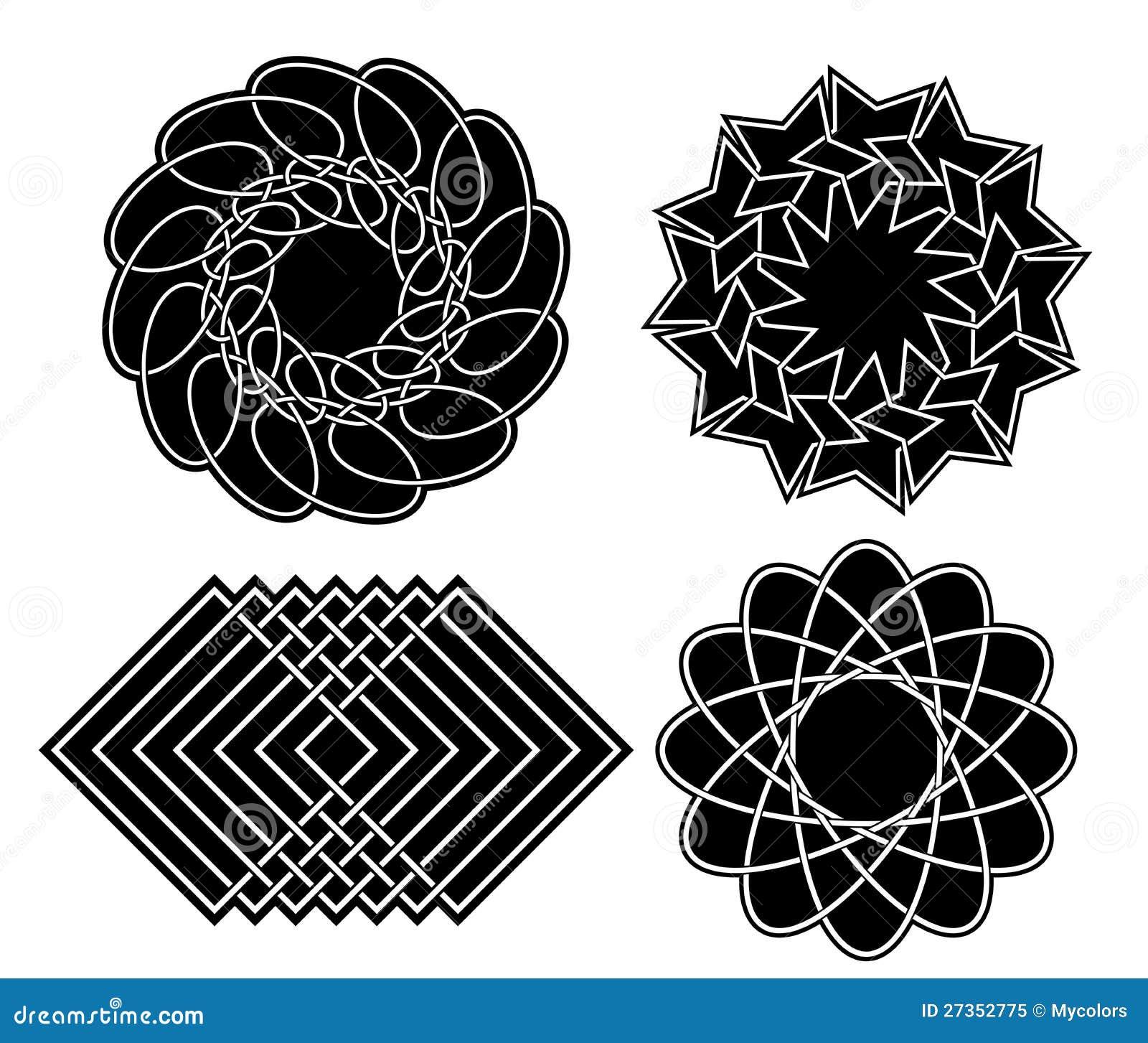 Elementos geom tricos negros para el dise o conjunto del - Diseno de fotos ...