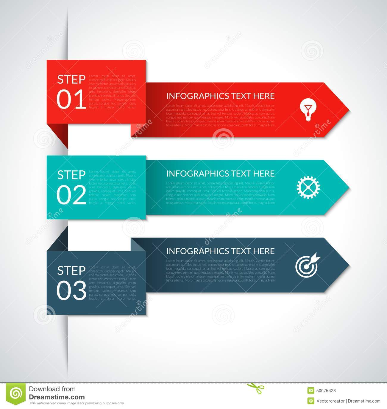 Elementos infographic de la flecha moderna