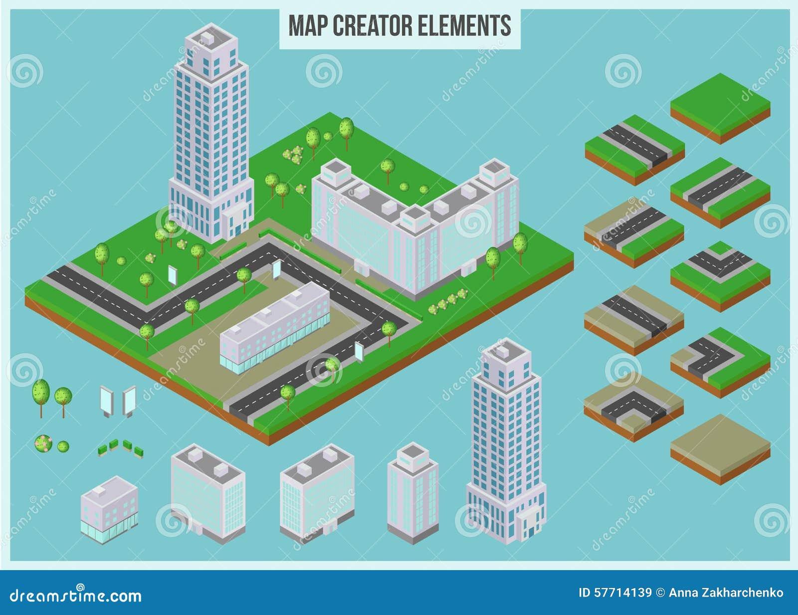 Elementos Isom Tricos Del Creador Del Mapa Para El