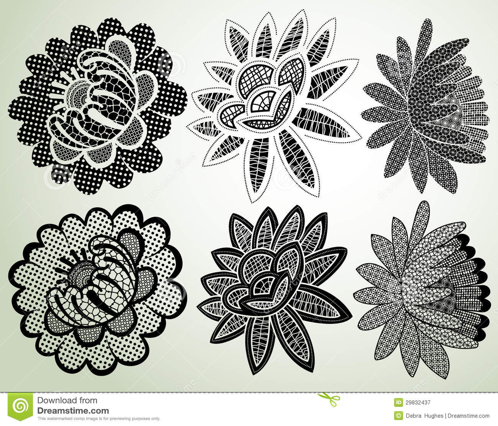 Elementos laçado da flor