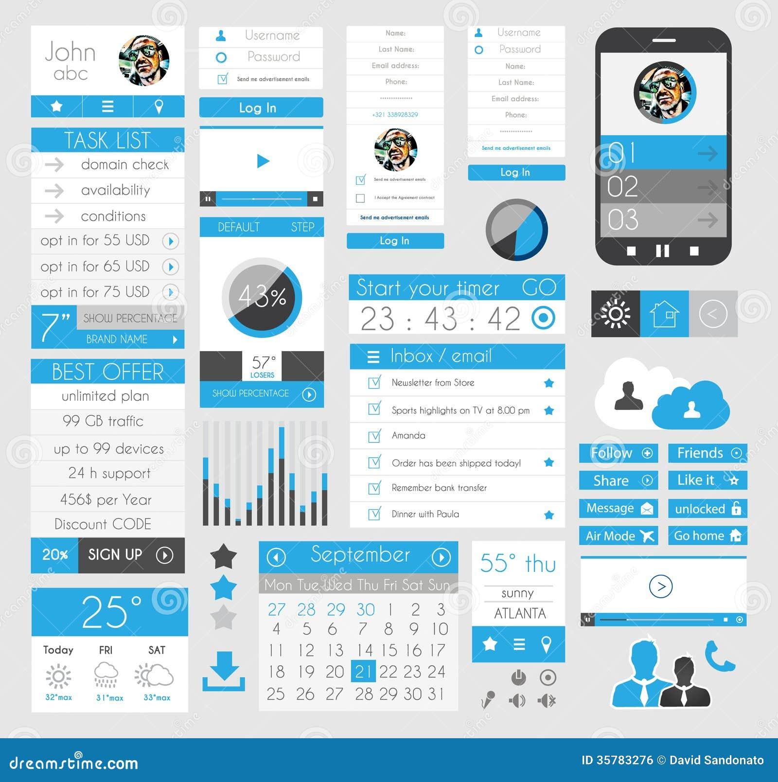 Elementos planos del diseño de UI para el web, Infographics,