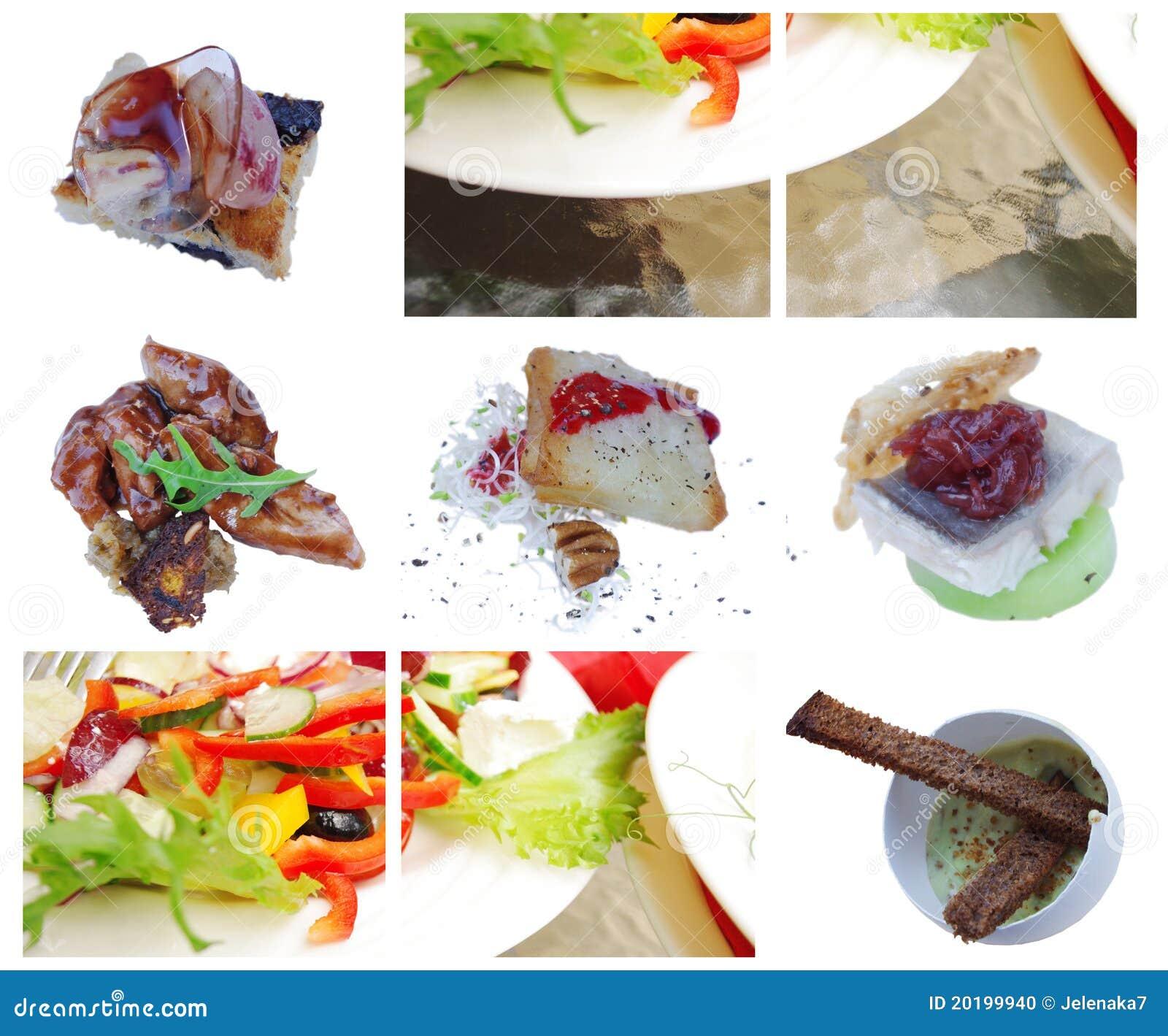 Haute Cuisine: Elements Of Haute Cuisine, Salat, Antipasti Stock Photo