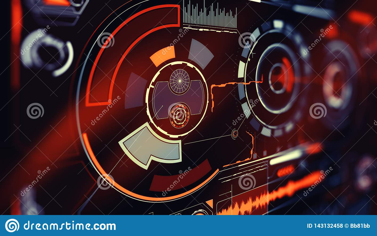 Elements for HUD interface. Illustration for your design. Technology background.Futuristic user interface